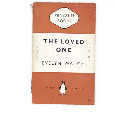 vintage-penguin-the-loved-one-by-evelyn-waugh-1951-orange-classic literature-country-house-library