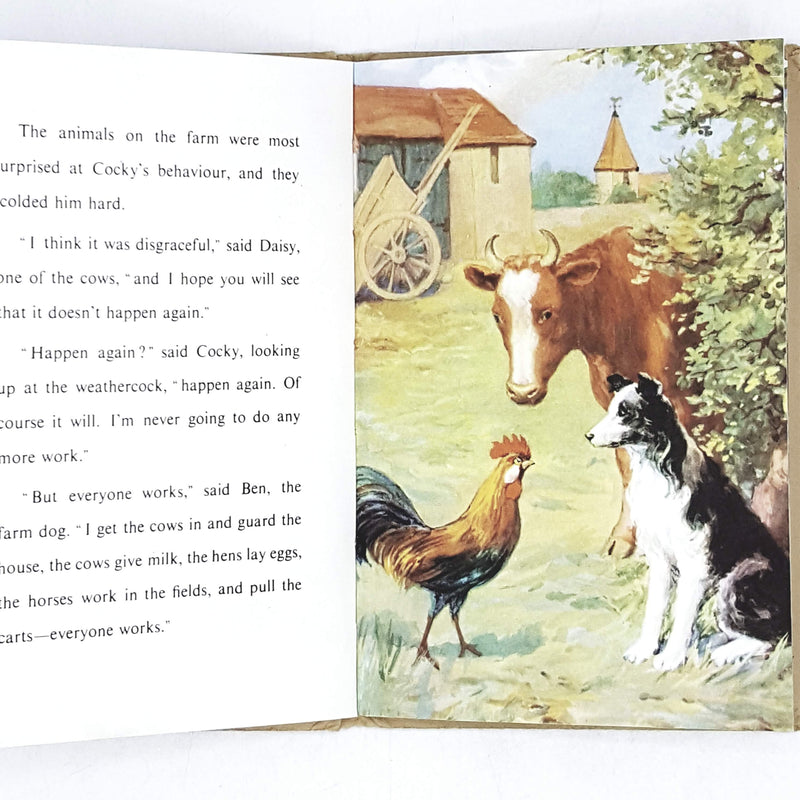vintage-ladybird-cocky-the-lazy-rooster-kindergarten-books-country-house-library