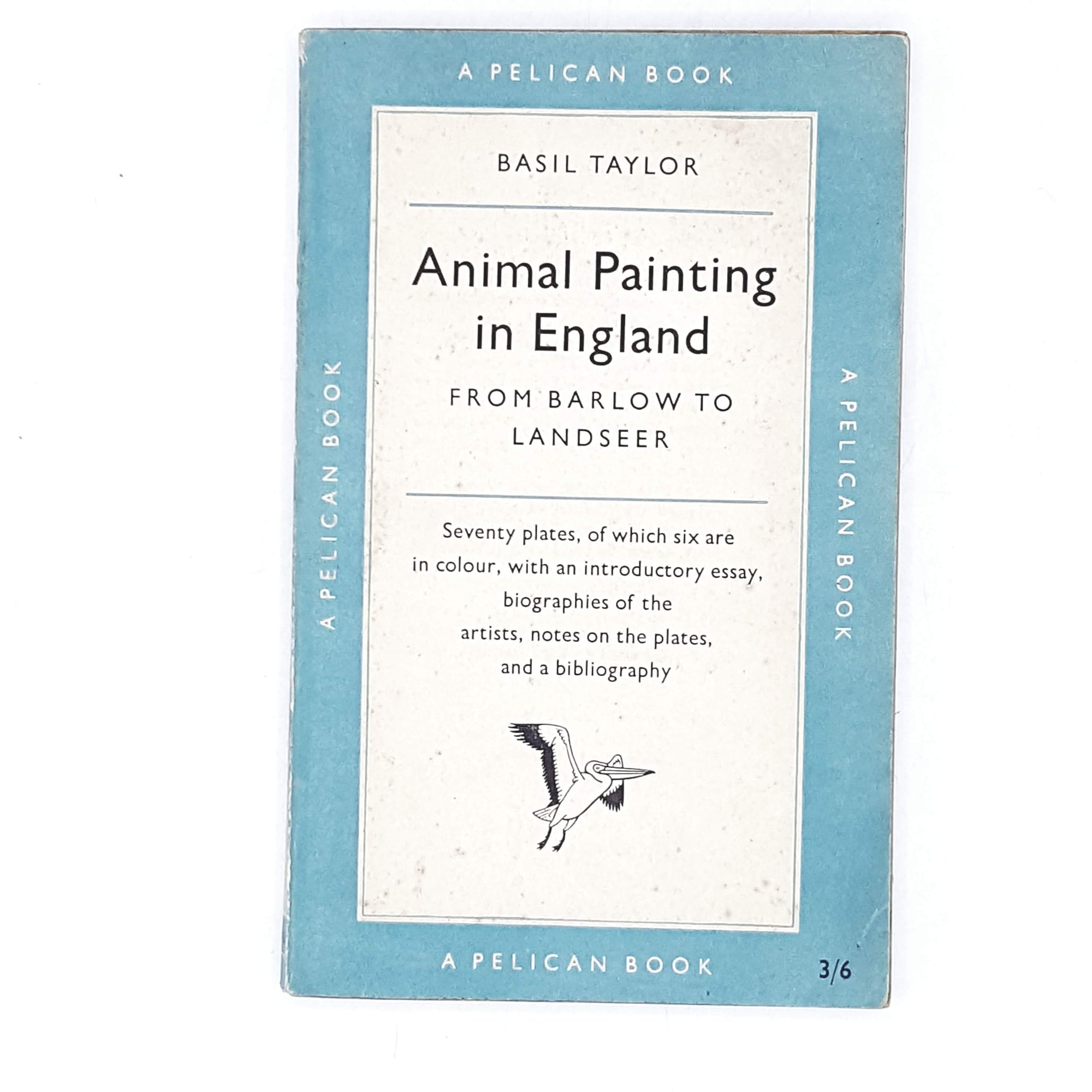 Vintage Pelican Animal Painting in England by Basil Taylor 1955