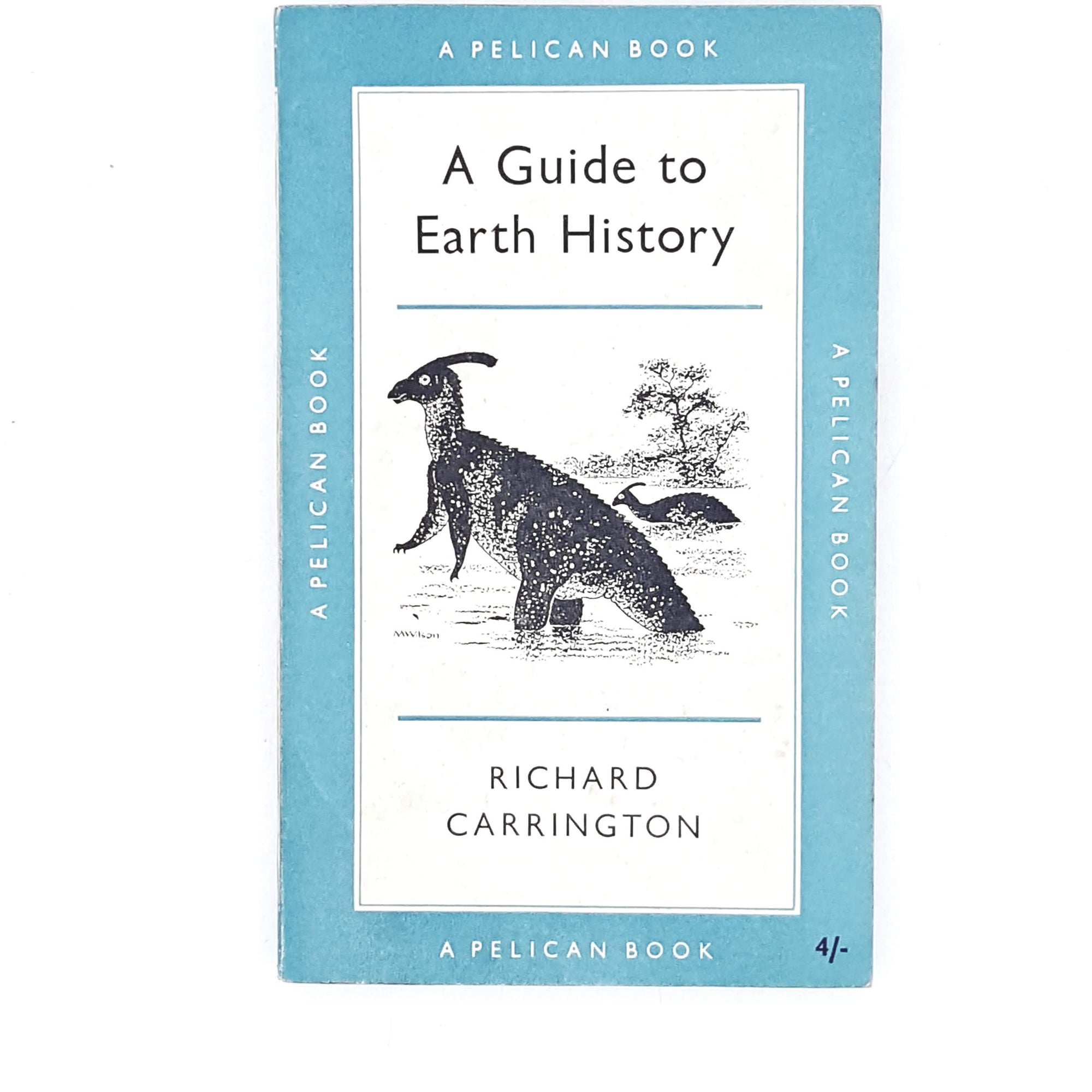 vintage-pelican-a-guide-to-earth-history-by-richard-carrington-1958-pale-blue-country-house-library