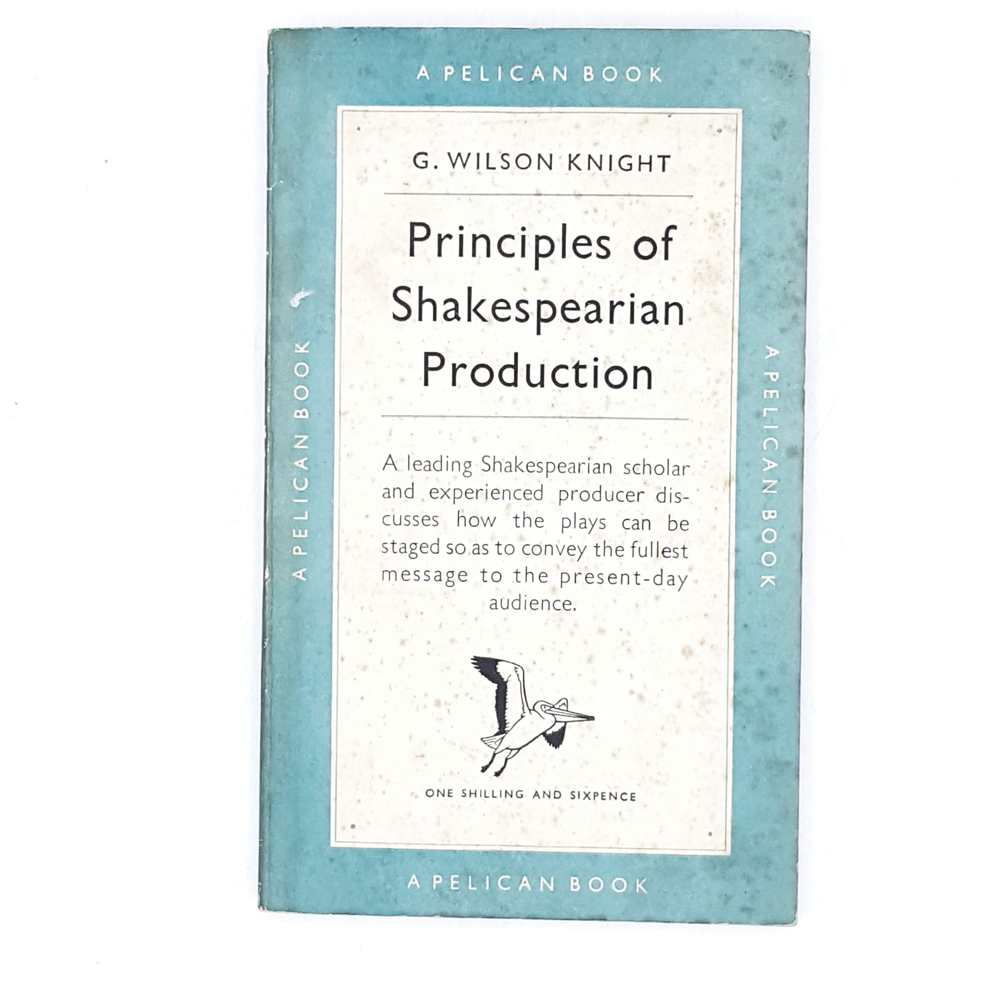 vintage-pelican-principles-of-shakespearian-production-by-g.-wilson-knight-1949-pale-blue-country-house-library