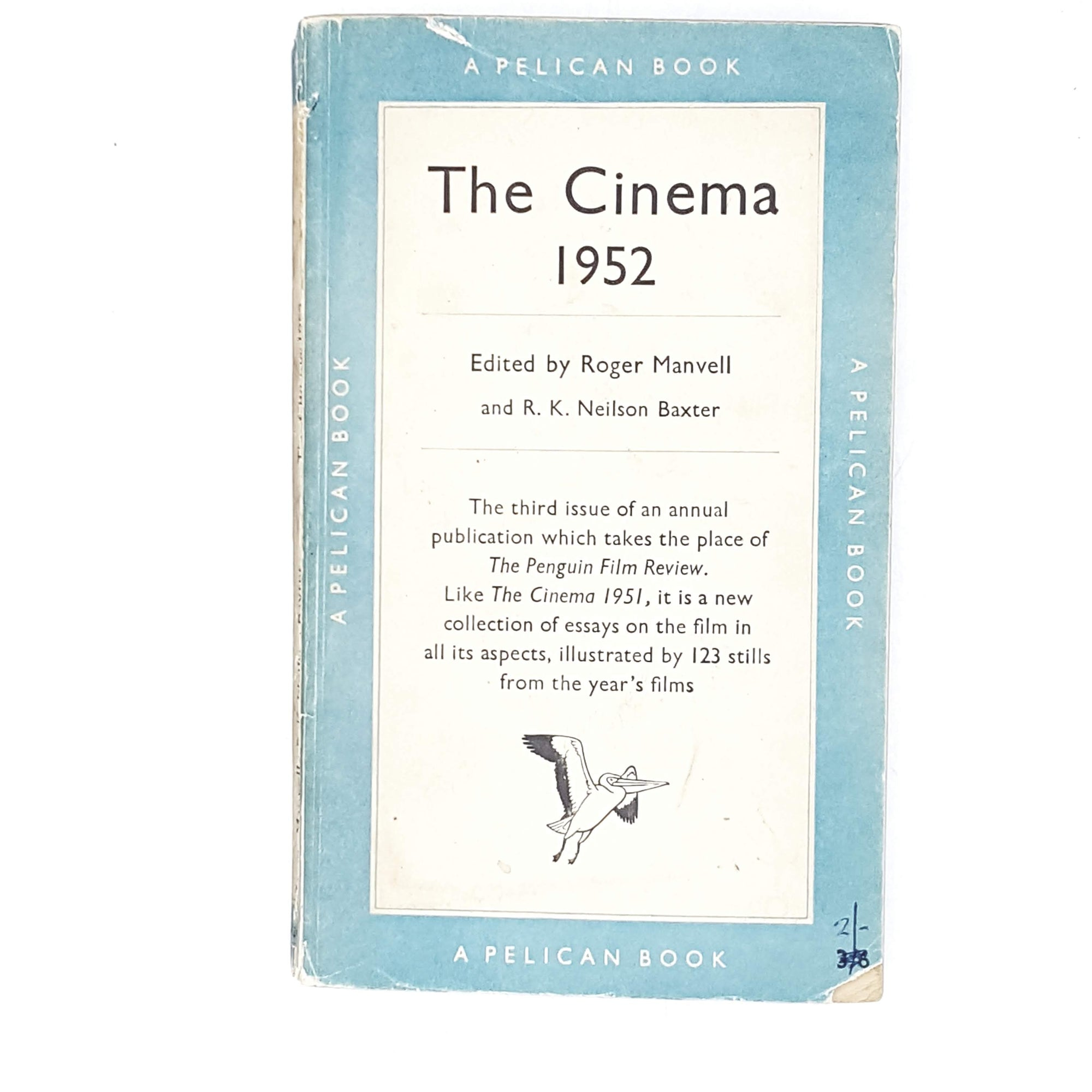 Vintage Pelican The Cinema by Roger Manvell and R. K. Neilson Baxter 1952