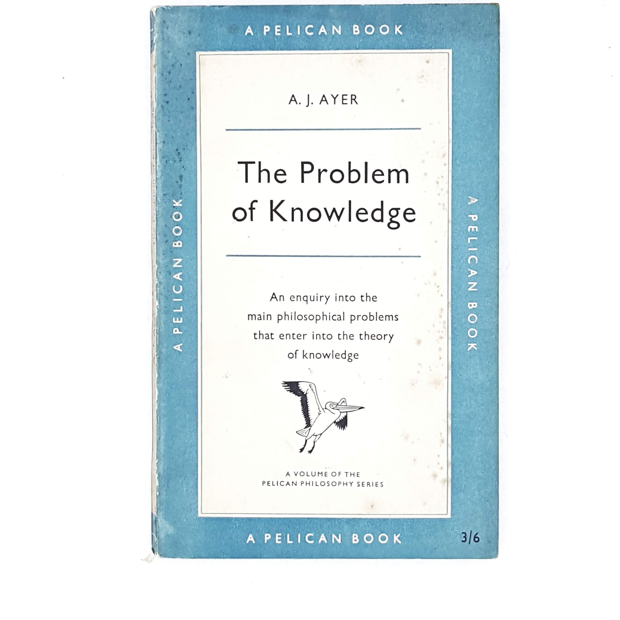 vintage-pelican-the-problem-of-knowledge-by-a.-j.-ayer-1956-pale-blue-country-house-library
