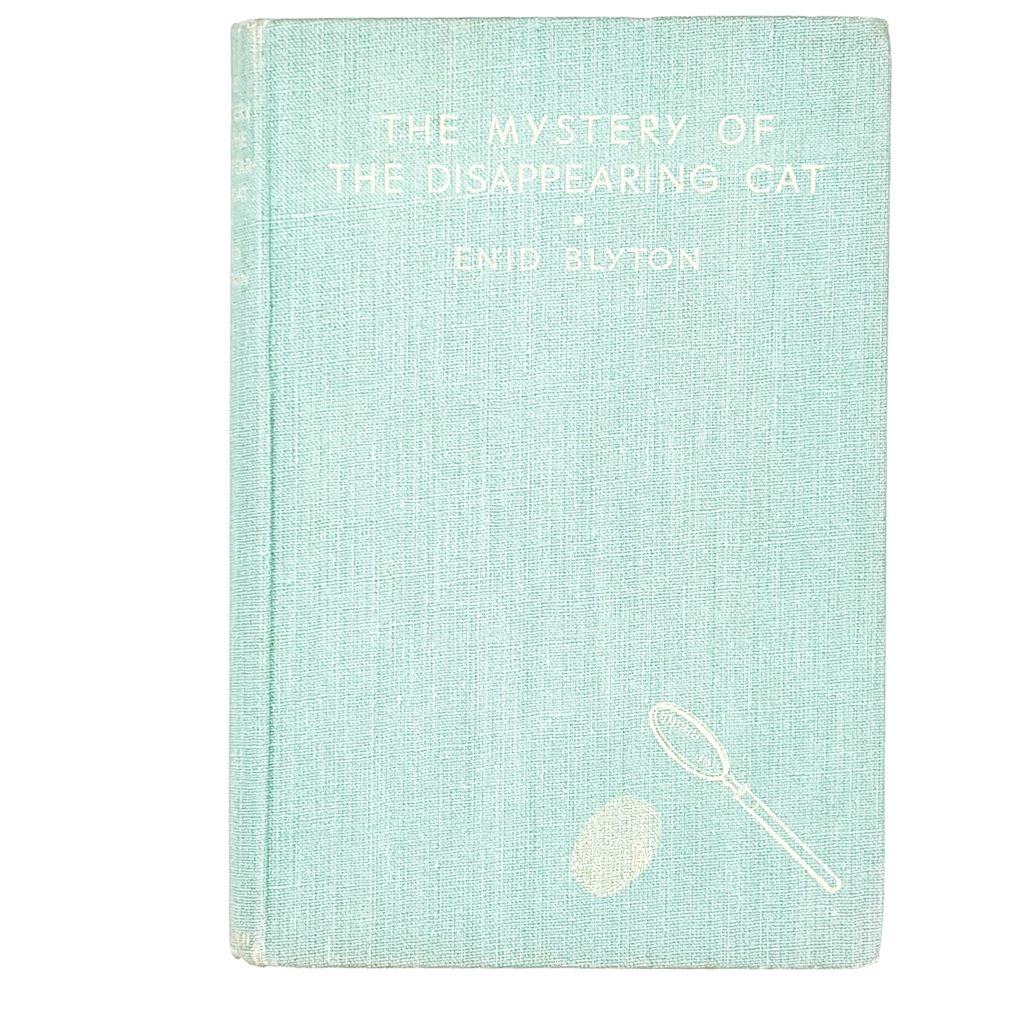 illustrated-enid-blyton-green-the-mystery-of-the-disappearing-cat-1944-country-house-library