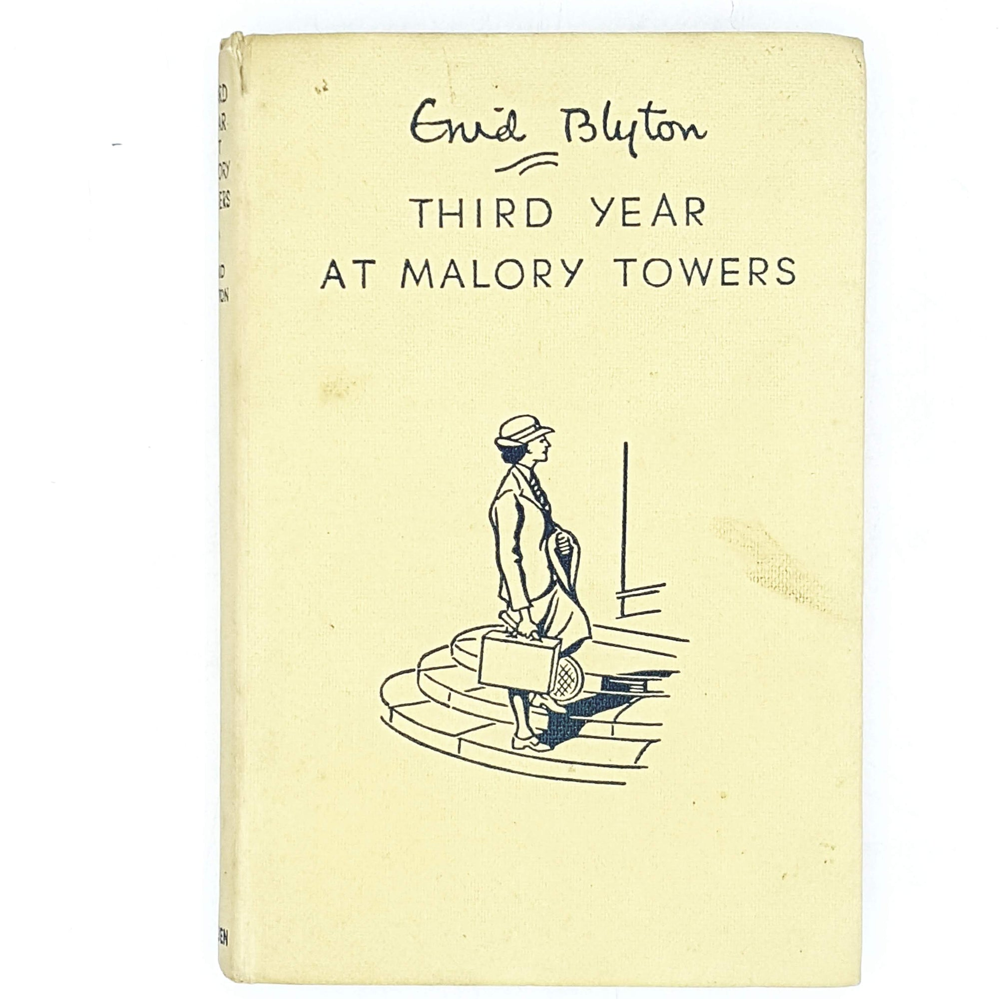 illustrated-enid-blytons-yellow-third-year-at-malory-towers-1958-country-house-library
