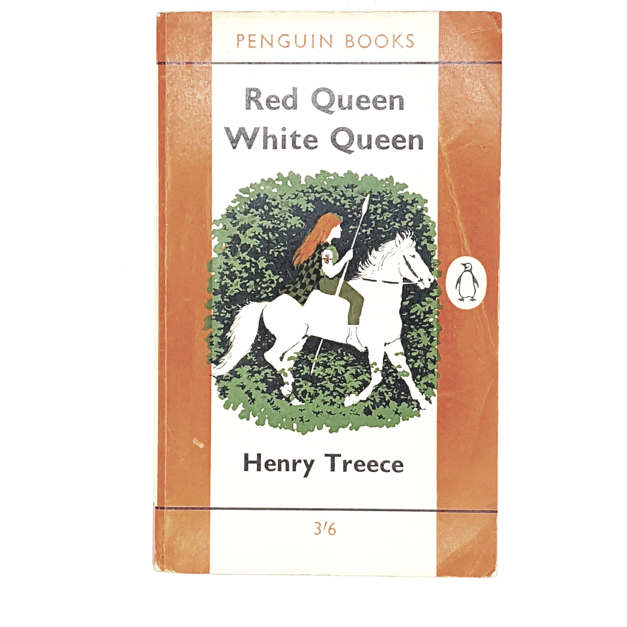 Vintage Penguin Red Queen White Queen by Henry Treece 1958