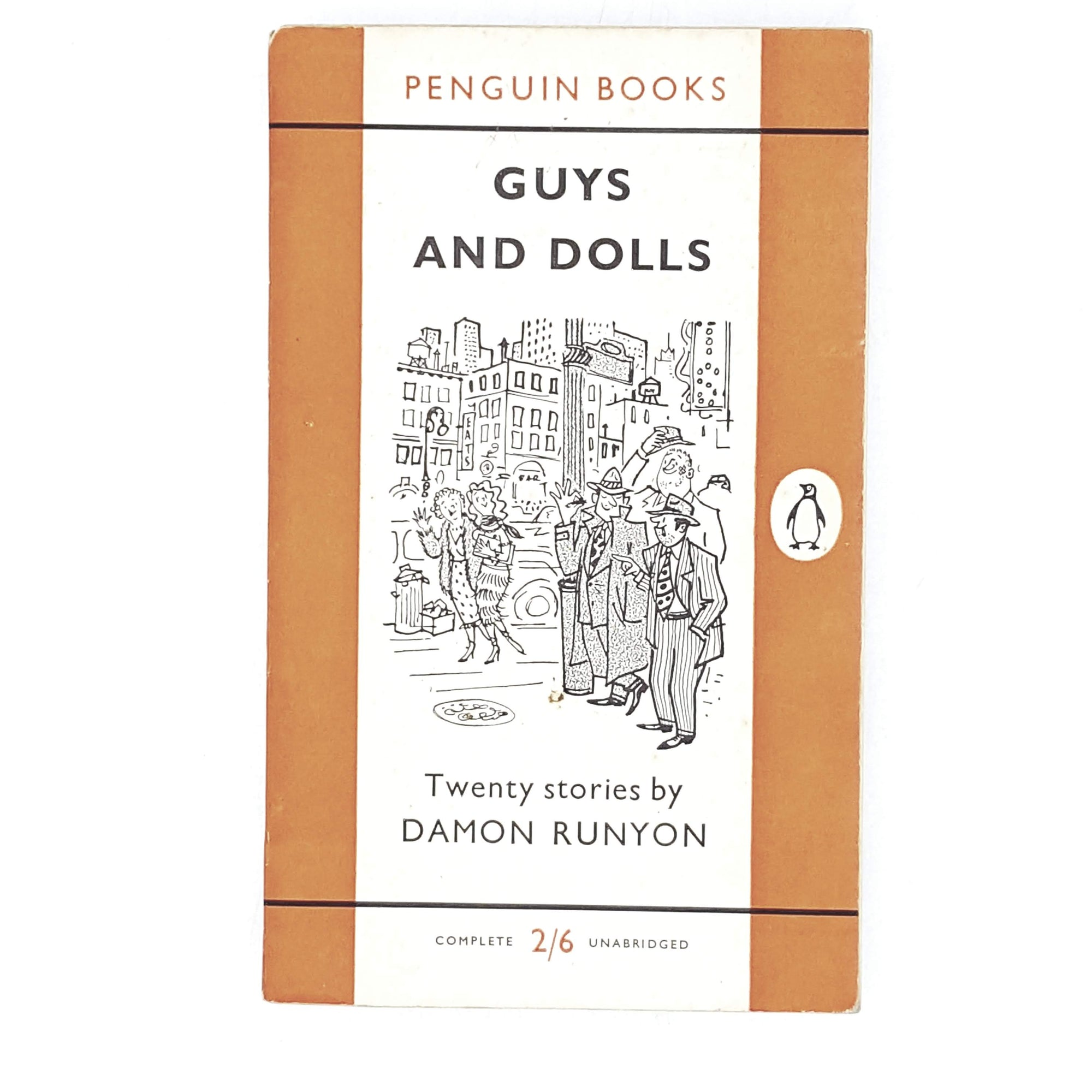 Vintage Penguin Guys and Dolls by Damon Runyon 1956
