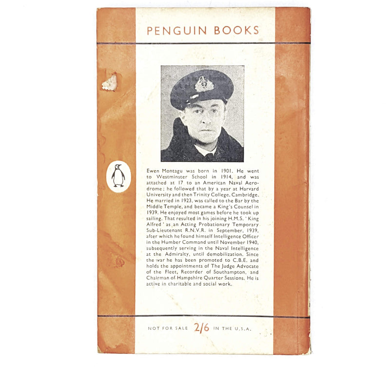 Vintage Penguin The Man Who Never Was by Ewen Montagu 1957