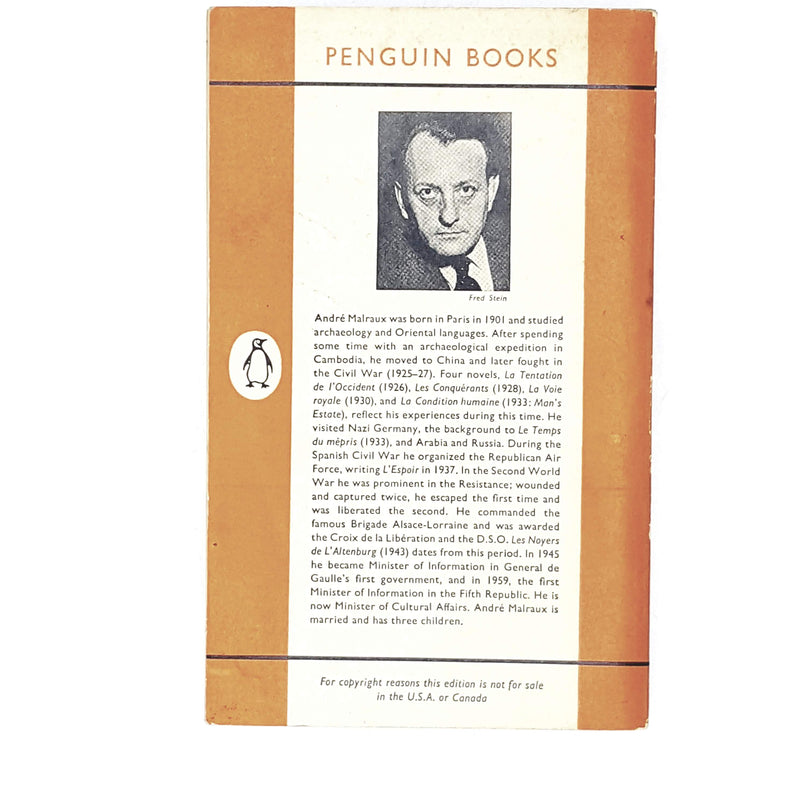 Vintage Penguin Man's Estate by André Malraux 1961