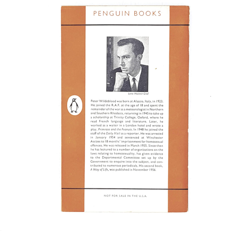 Vintage Penguin Against the Law by Peter Wildeblood 1957