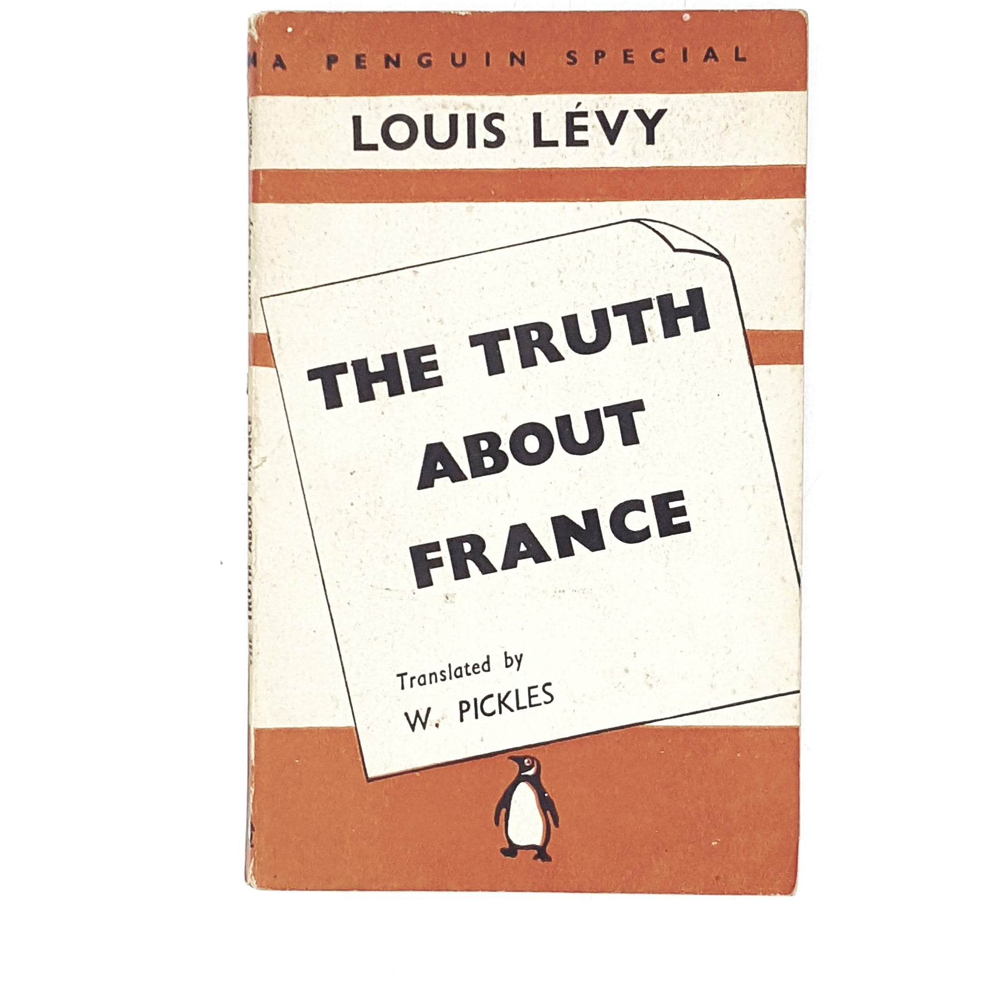 Vintage Penguin The Truth About France by Louis Levy 1941
