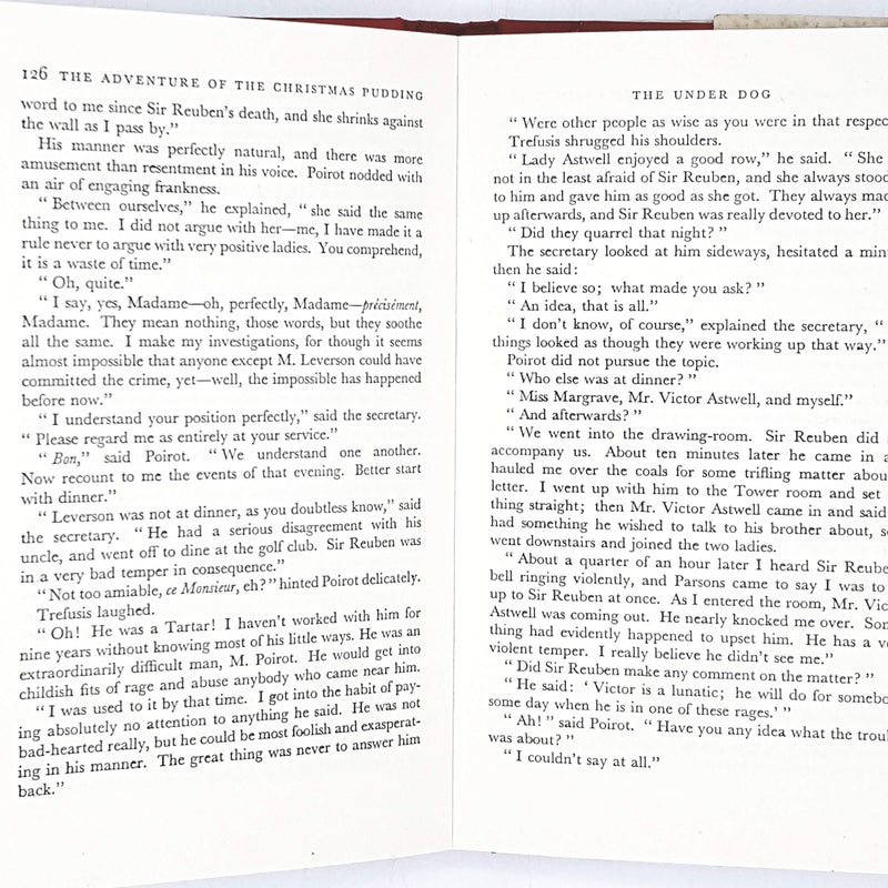Agatha Christie's The Adventure of the Christmas Pudding and a Selection of Entrées 1960