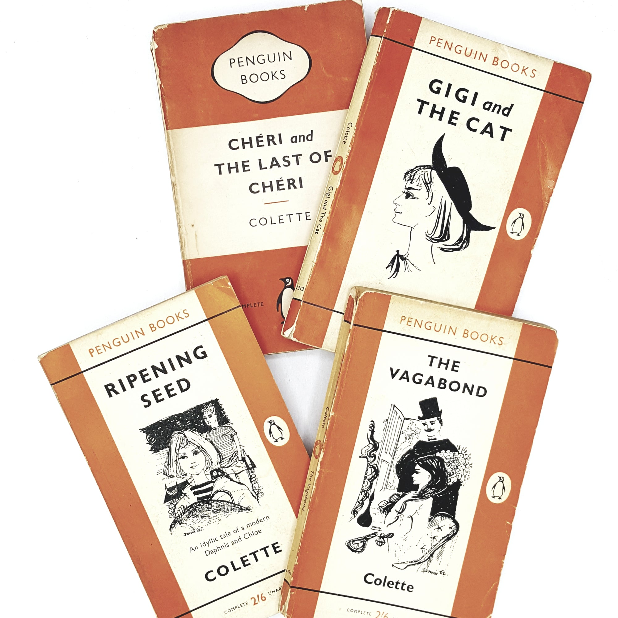 Colette Four Book Collection 1950s 1960s