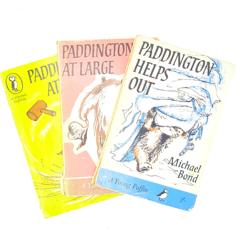 Paddington Bear 3 Book Collection 19760s 1970s