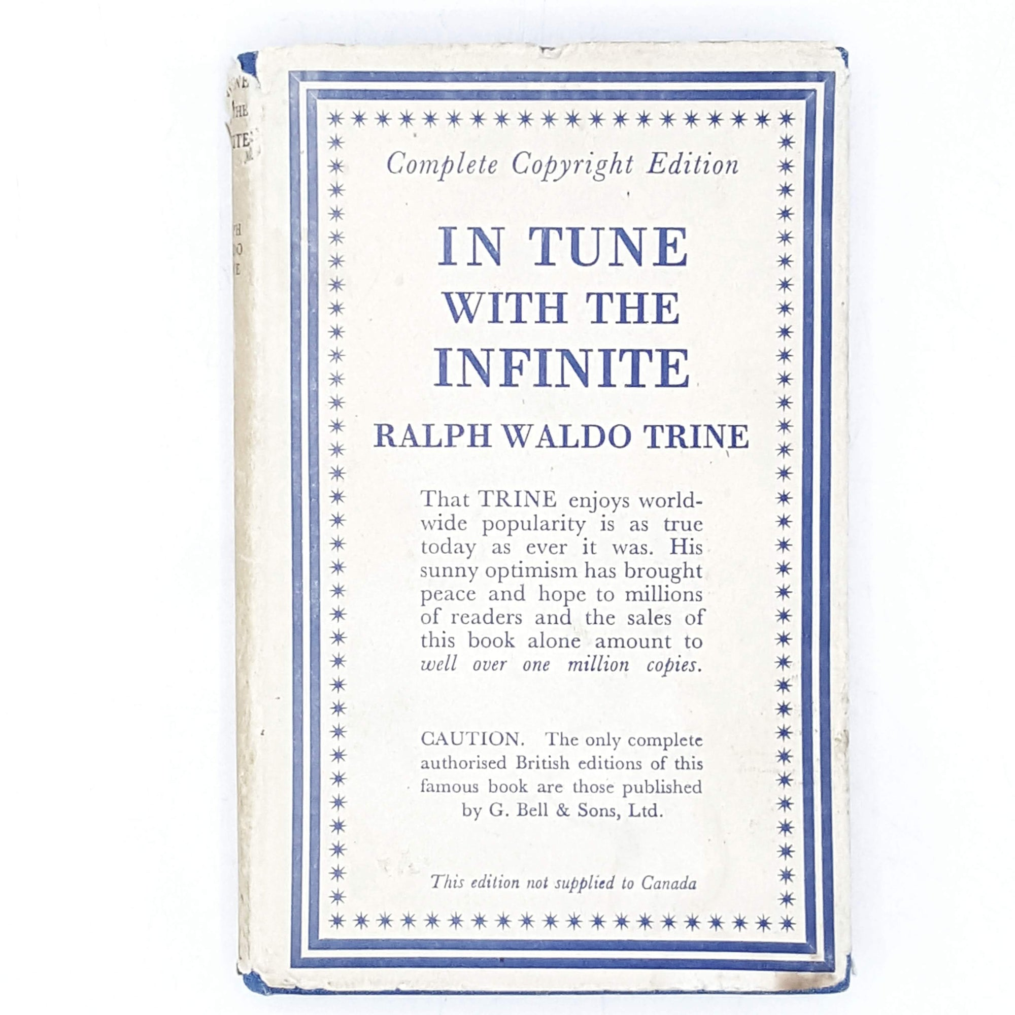In Tune With The Infinite by Ralph Waldo Trine 1942