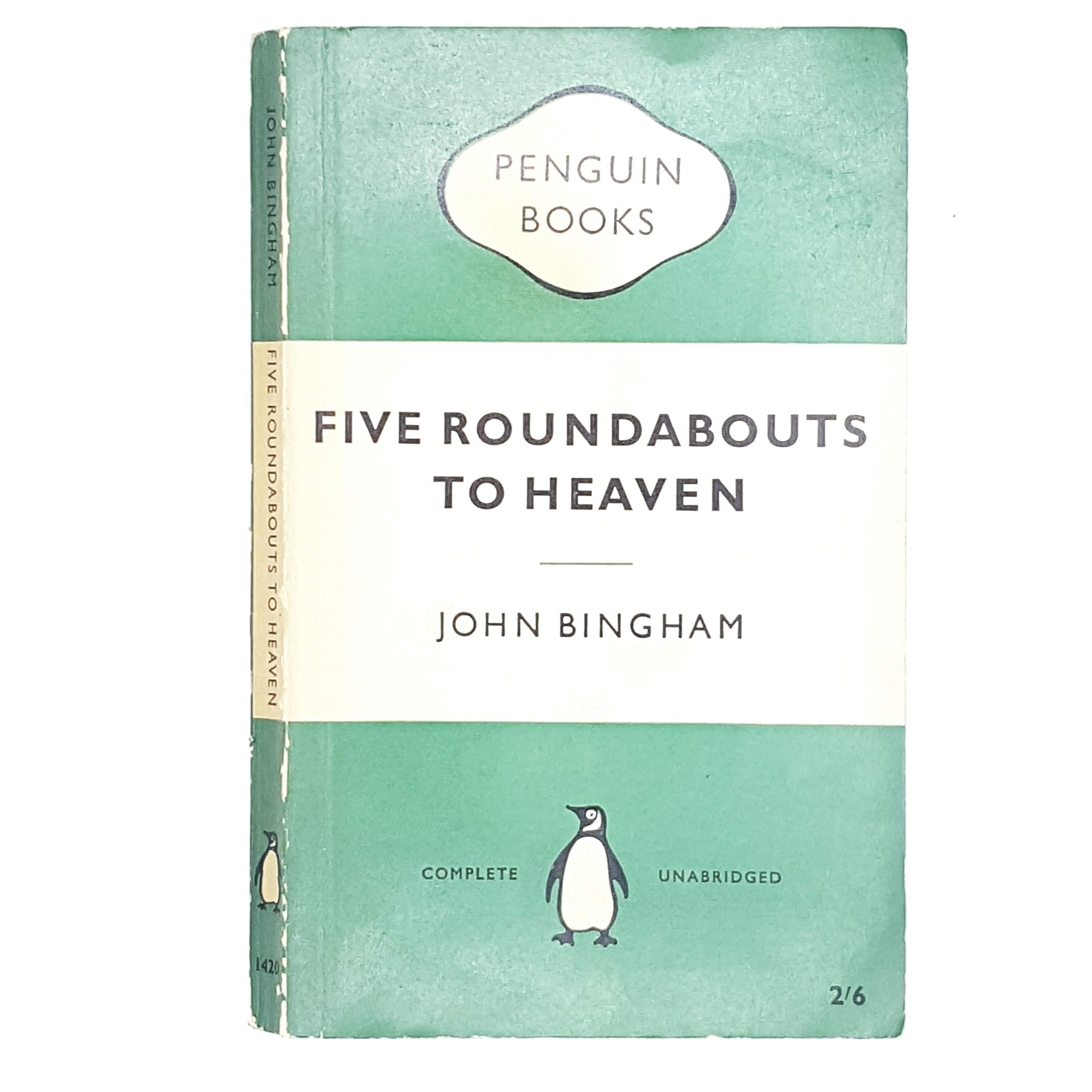 First Edition Vintage Penguin Five Roundabouts to Heaven by John Bingham 1953