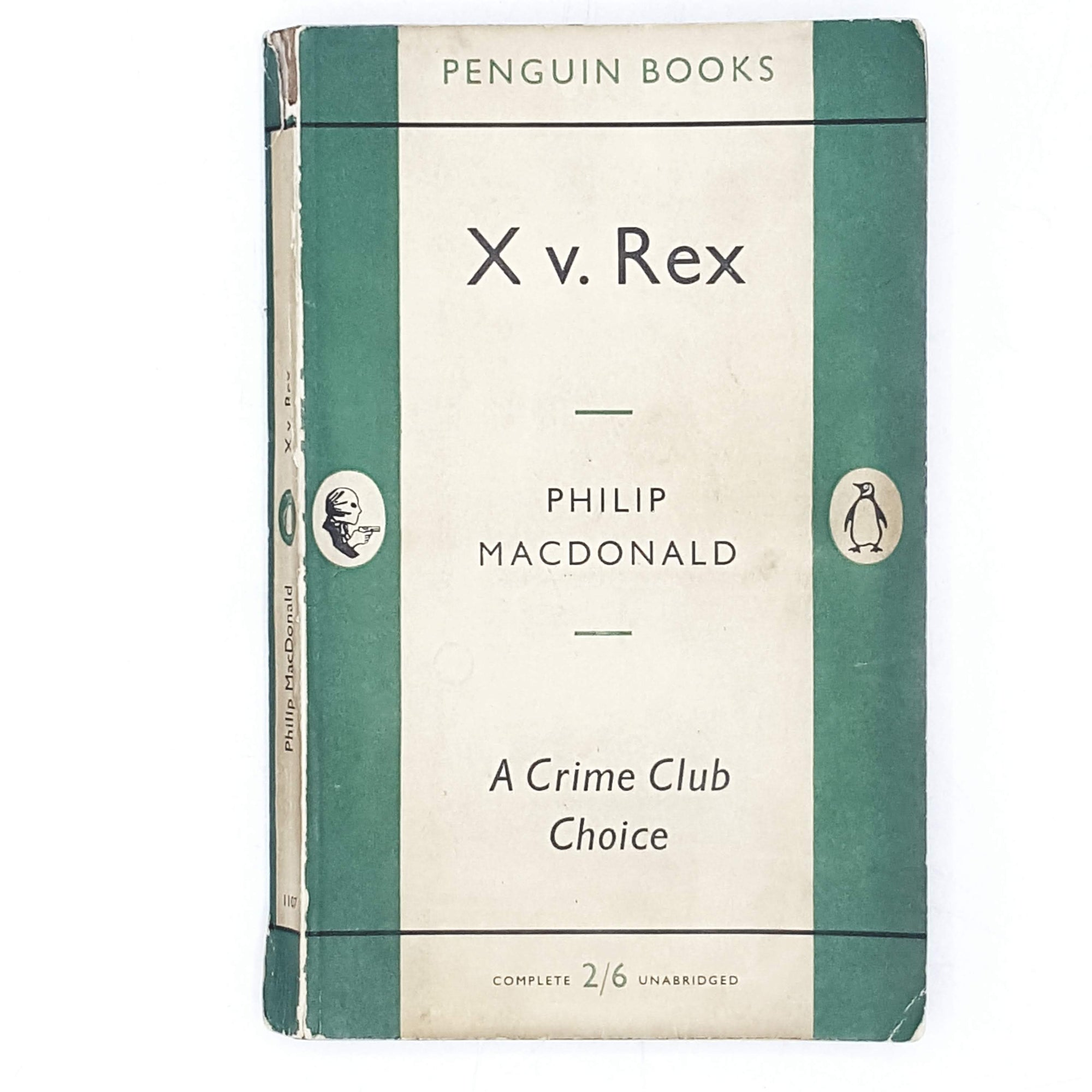 First Edition Penguin X v. Rex by Philip MacDonald 1955