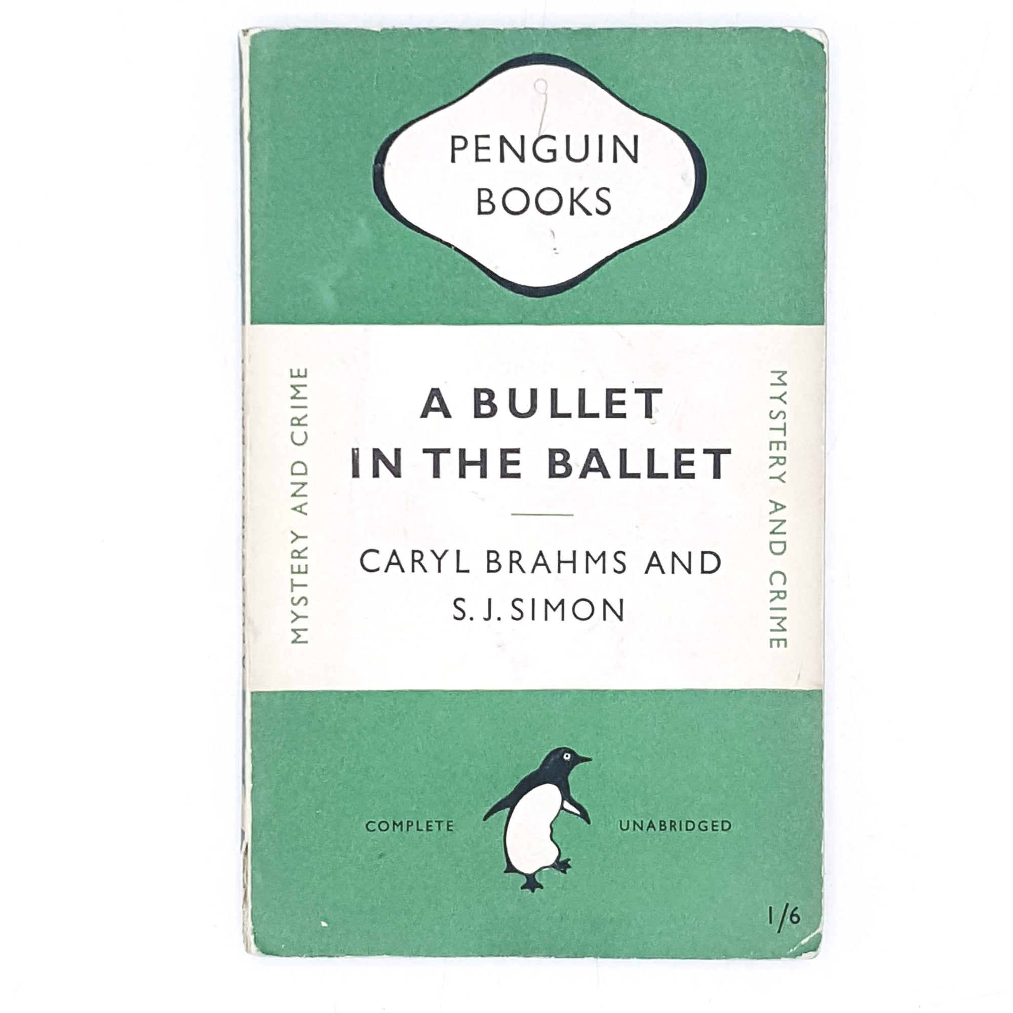 Vintage Penguin Crime A Bullet in the Ballet by Caryl BNrahms and S. J. Simon 1949
