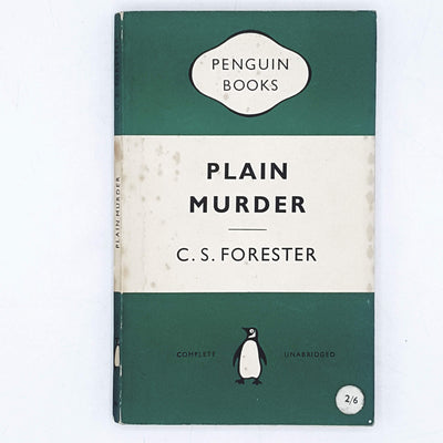 Vintage Penguin Plain Murder by C. S. Forester 1954