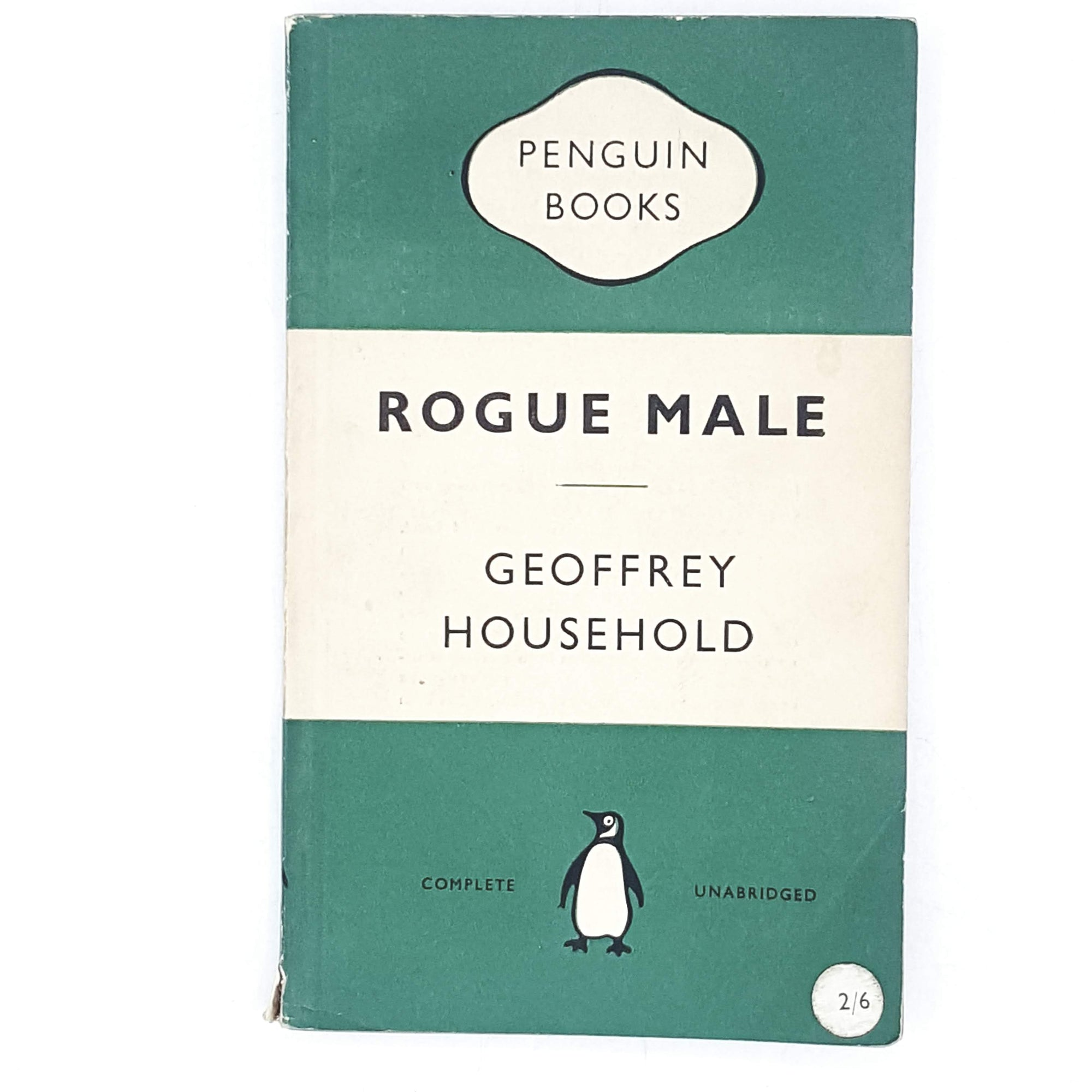 Vintage Penguin Rogue Male by Geoffrey Household 1954