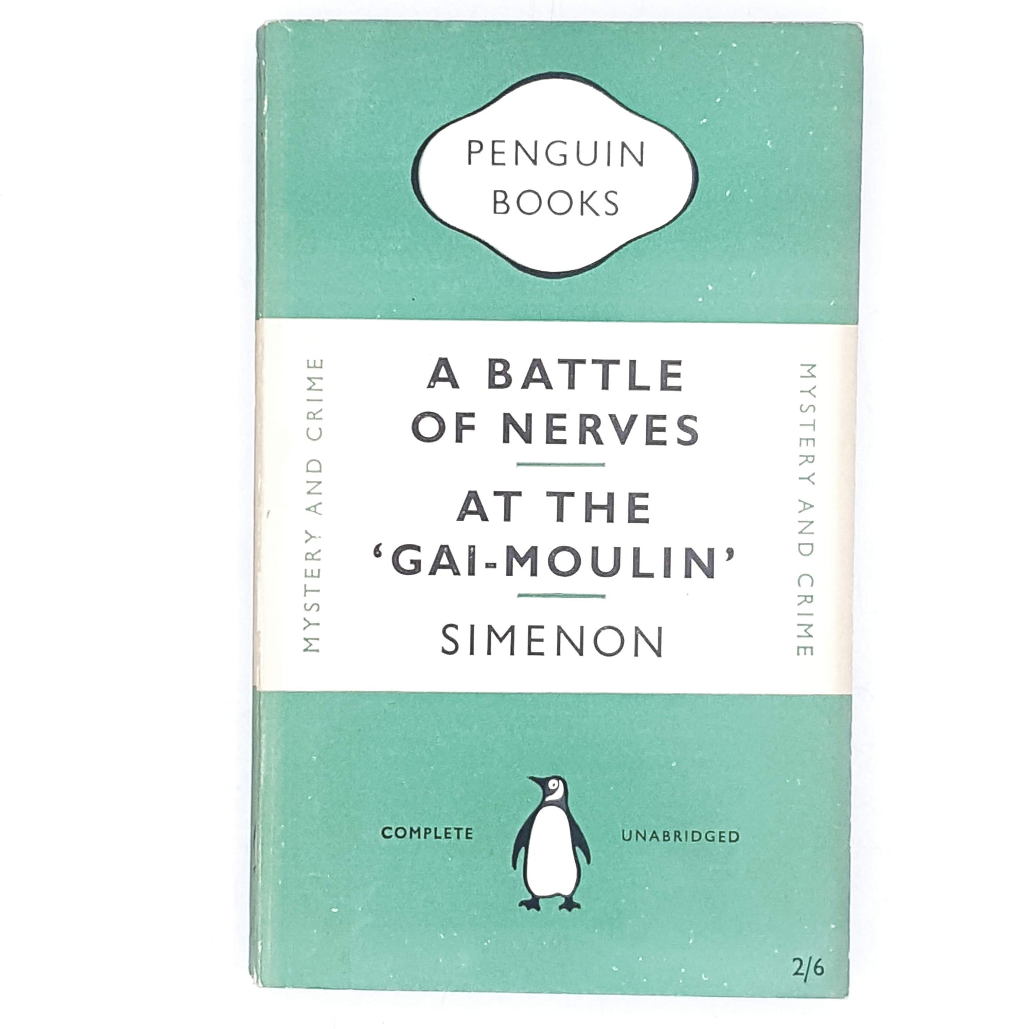 Vintage Penguin Simenon's A Battle of Nerves and At the 'Gai-Moulin' 1951