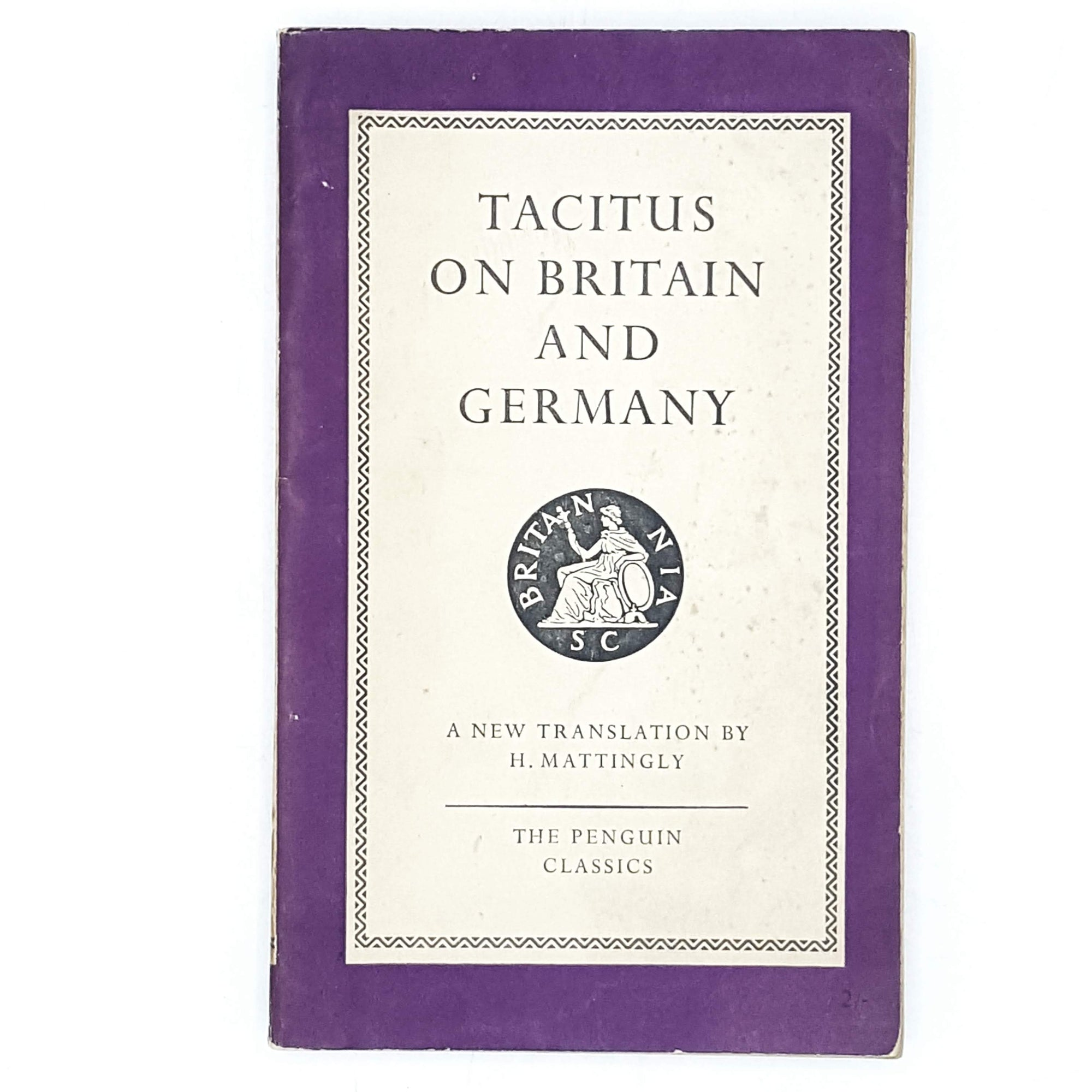 Vintage Penguin Tacitus on Britain and Germany 1951