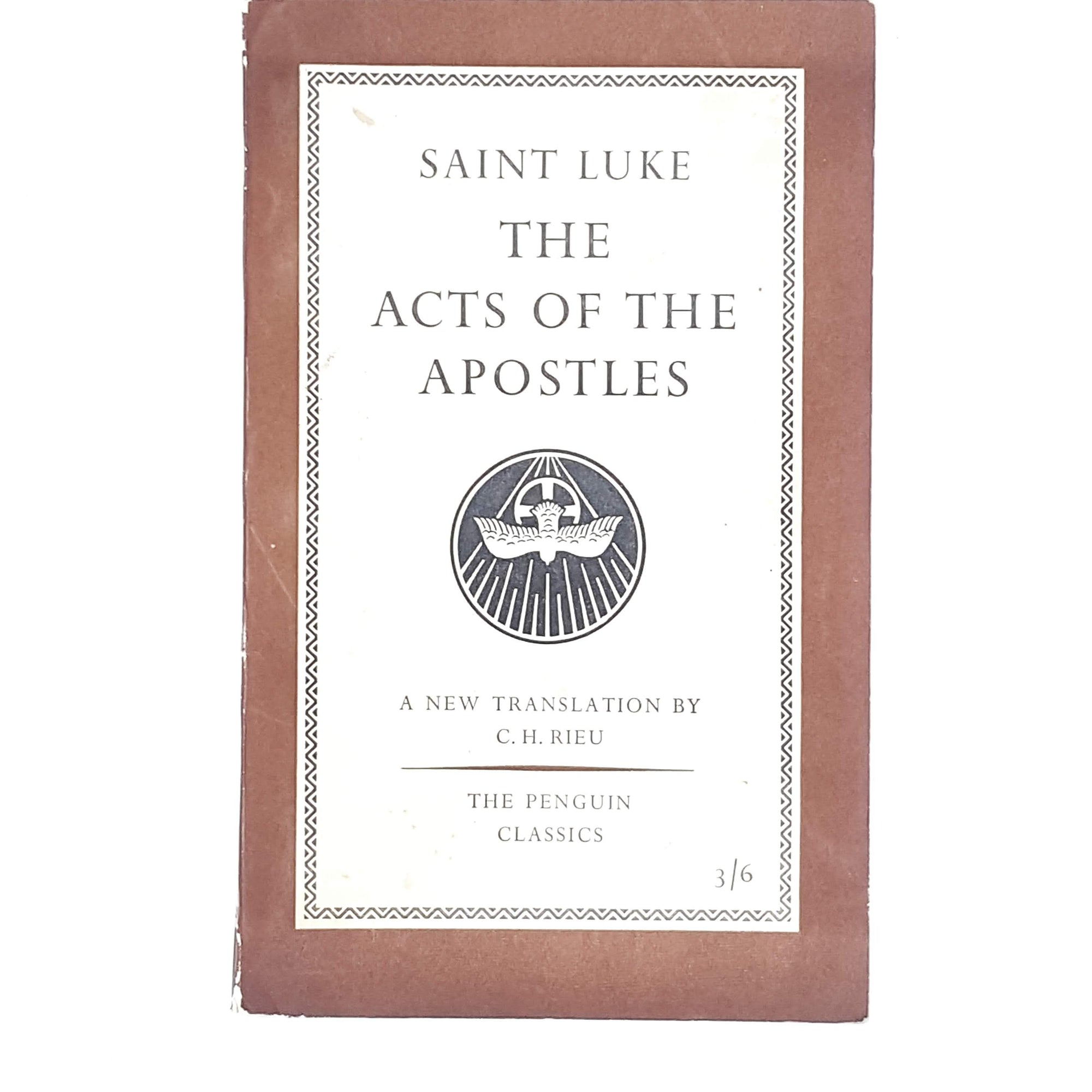 Saint Luke The Acts of the Apostles 1957