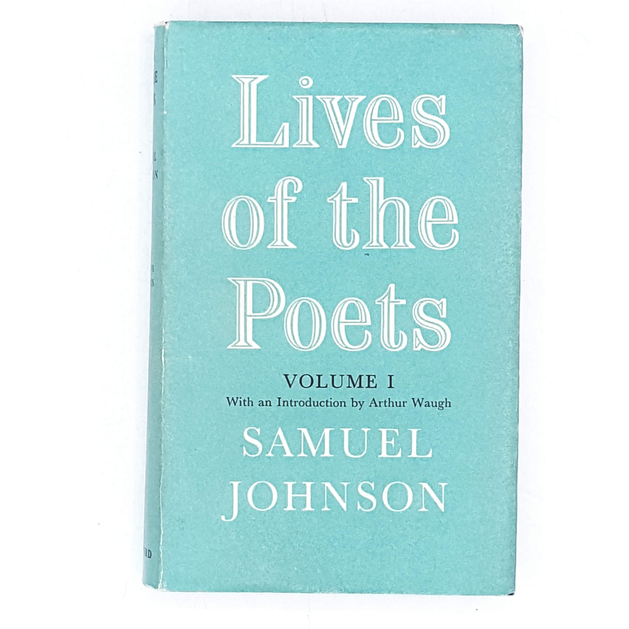 Vintage Biography: Lives of the English Poets 1968