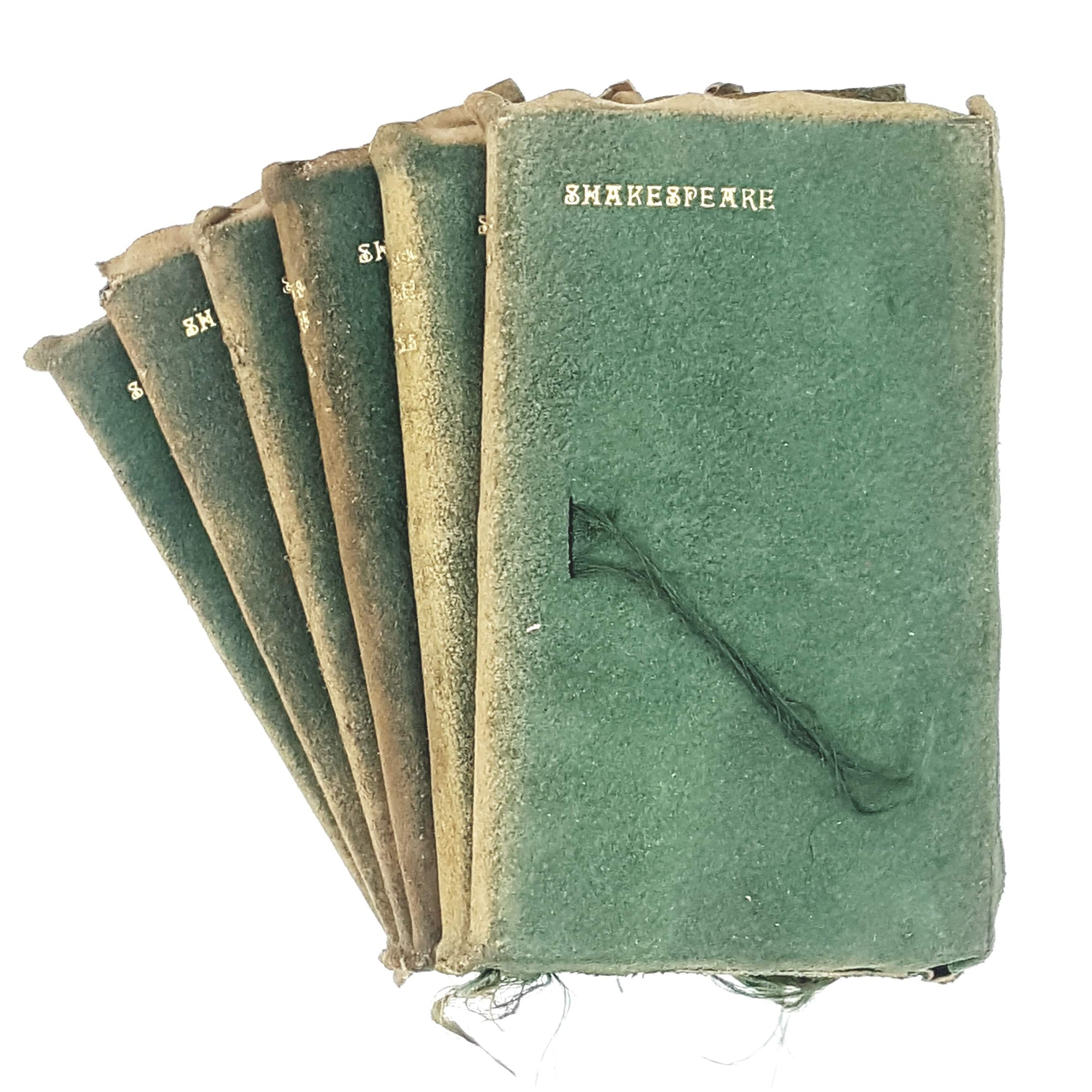 Green Leather Illustrated Collection: William Shakespeare's Complete Works in Six Volumes