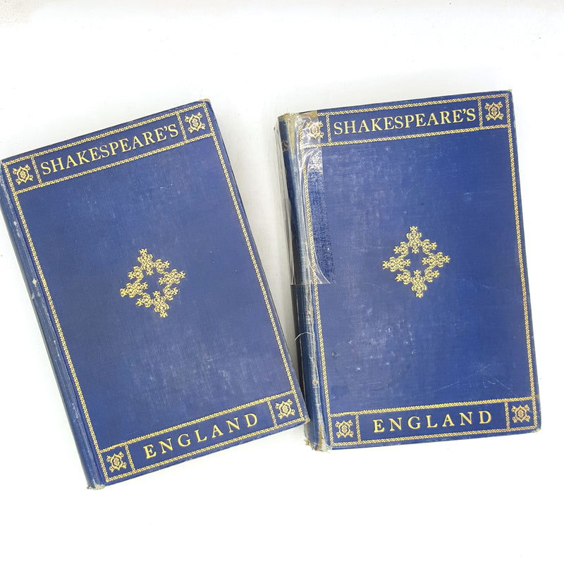 1926-poetry-shakespeare-blue-sonnets-shakespeare-week-plays-beautiful-thrift-books-prose-plates-england-illustrated-writing-old-history-
