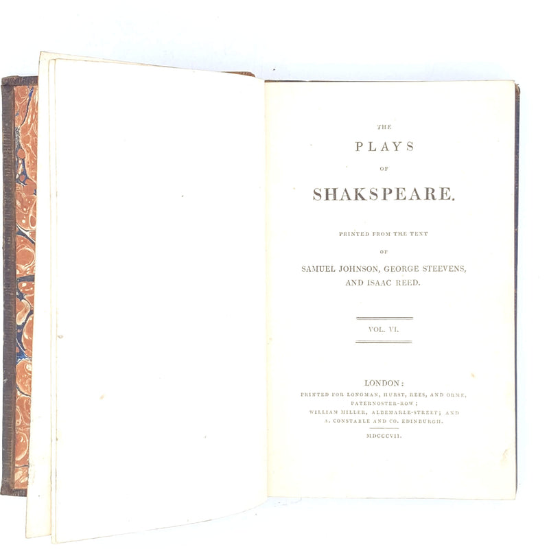 Antique Shakespeare Volume VI 1808