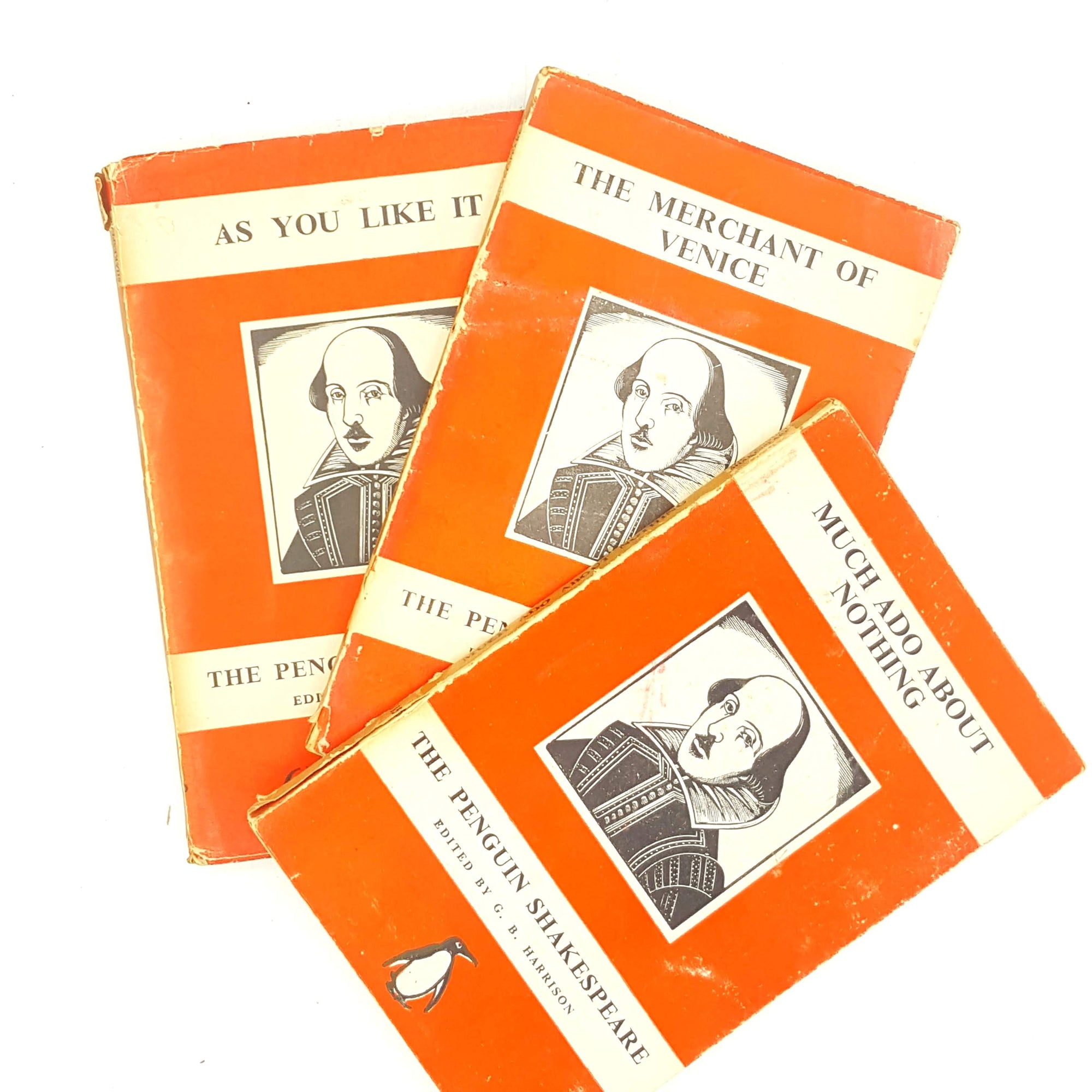 Vintage Red Penguin Shakespeare Collection 1930s