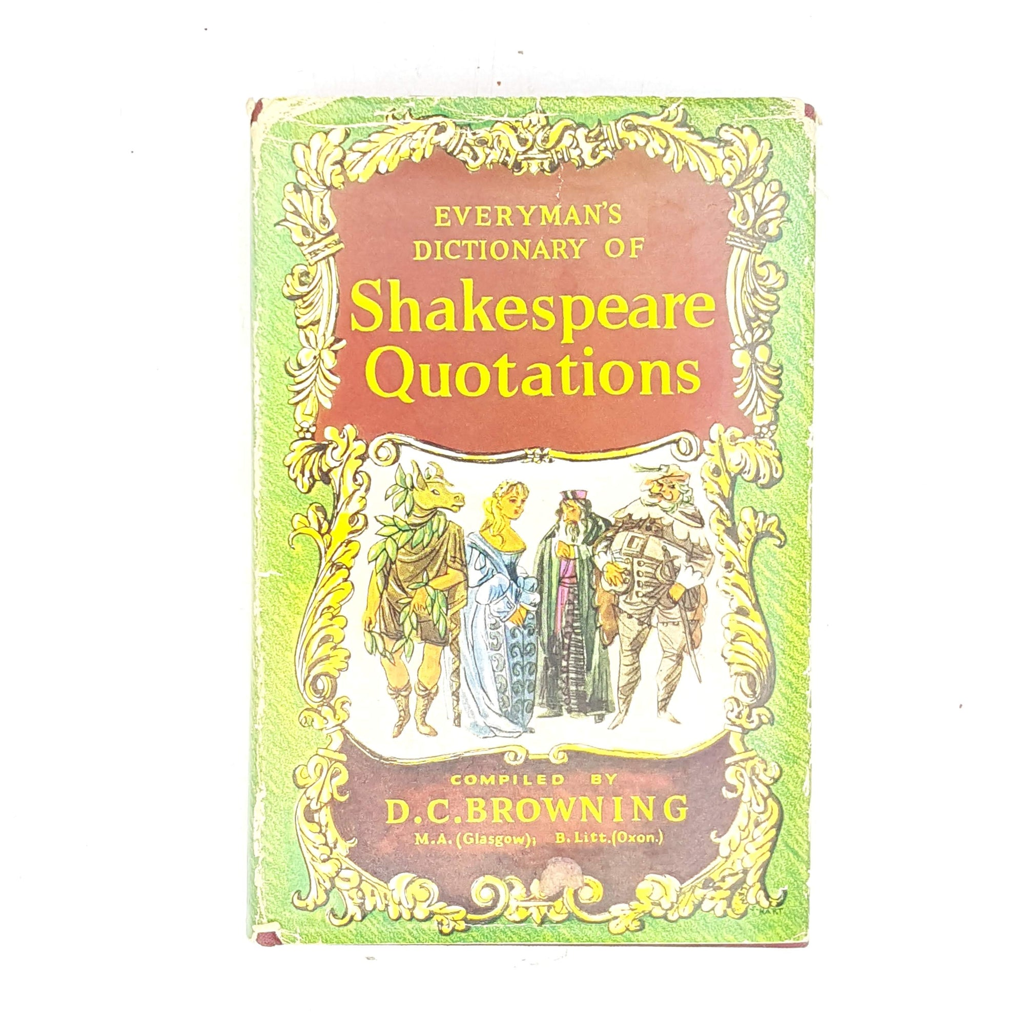 green-yellow-england-old-plays-colour-prose-shakespeare-week-writing-quotes-1964-shakespeare-poetry-thrift-books-country-house-library-colour-quotations-