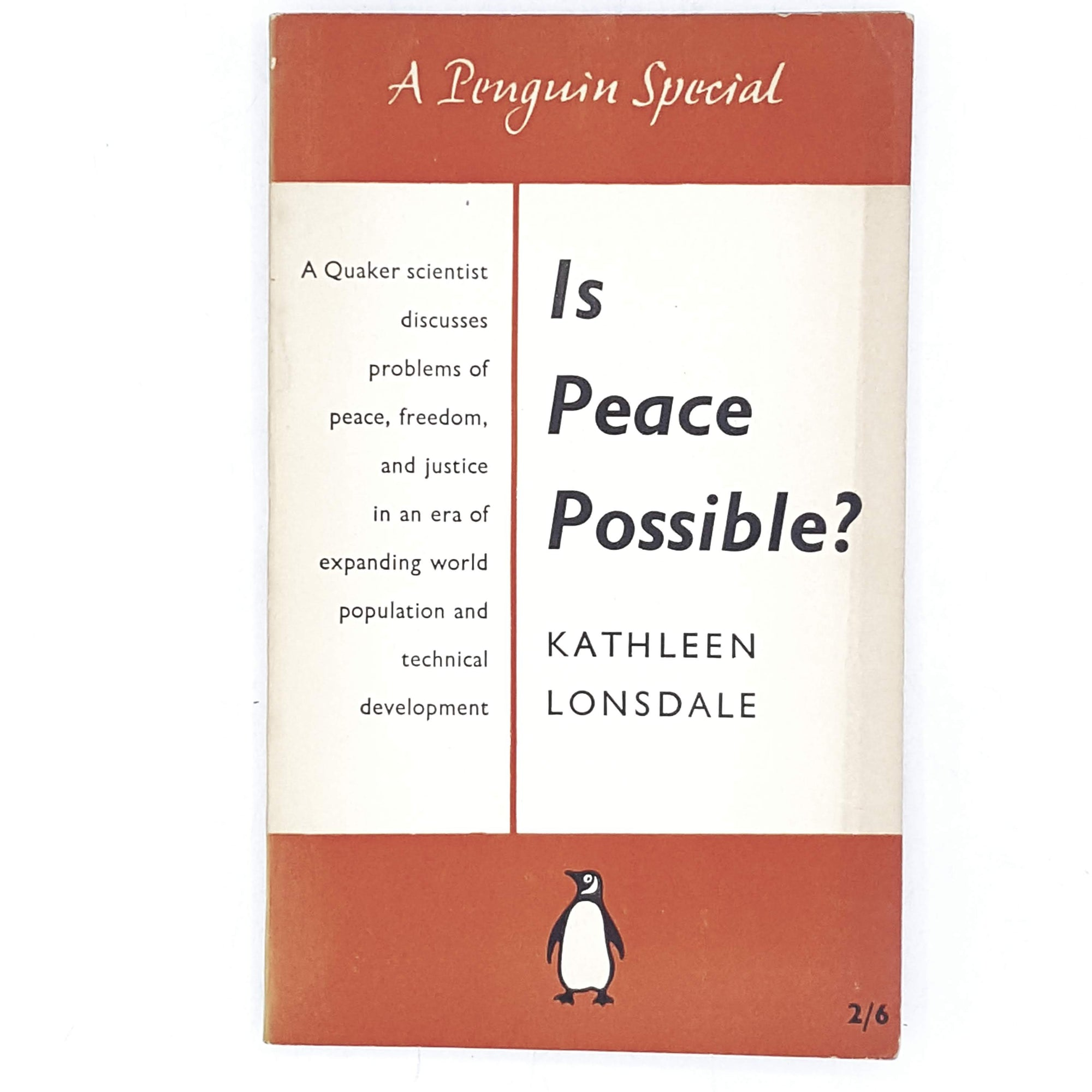 First Edition Penguin Special: Is Peace Possible? 1957