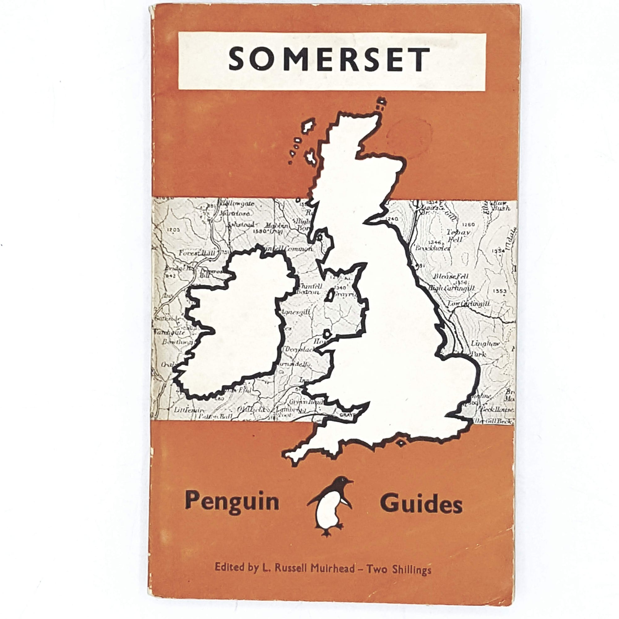 Vintage Illustrated Penguin Guide: Somerset 1949