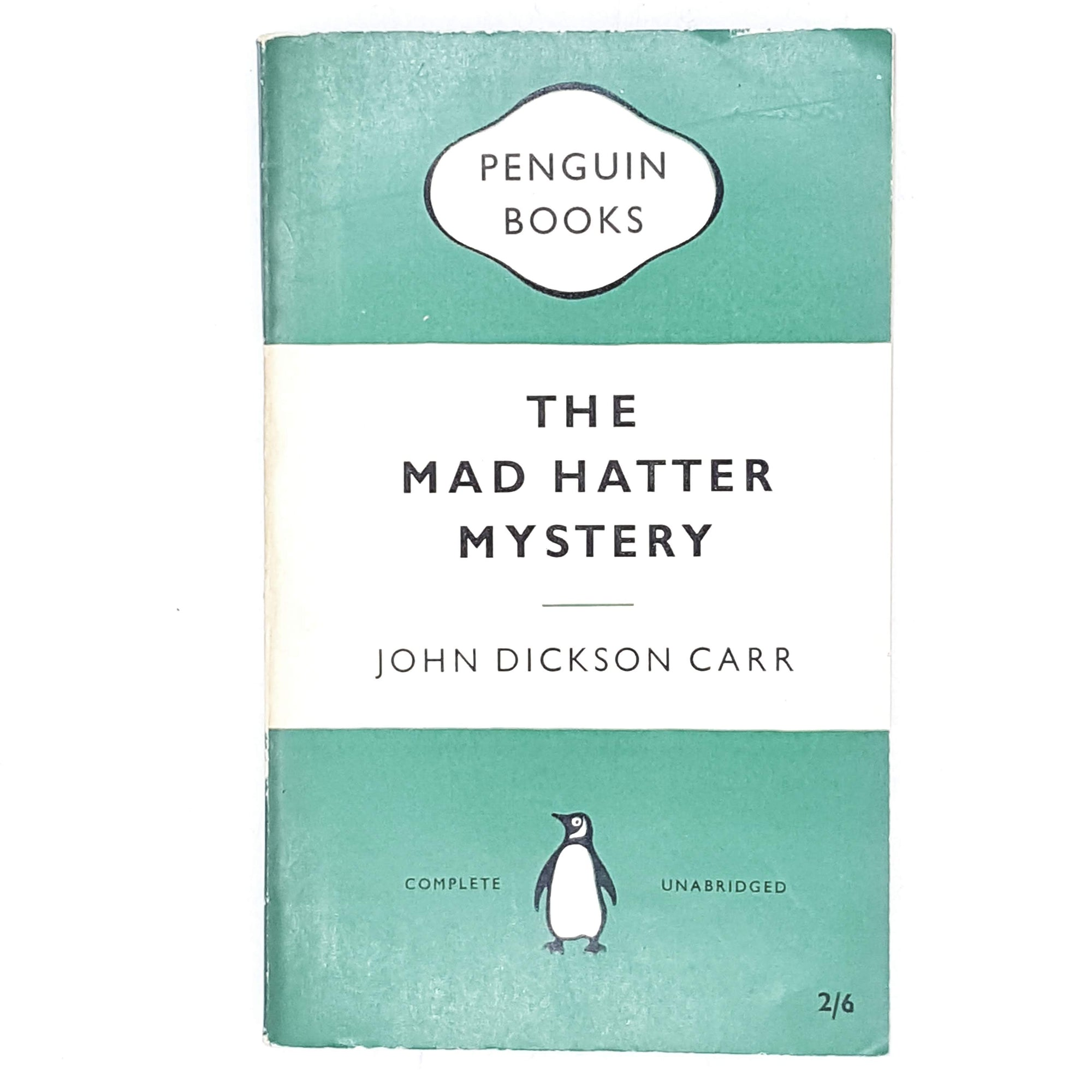 Vintage Penguin The Mad Hatter Mystery by John Dickson Carr 1959