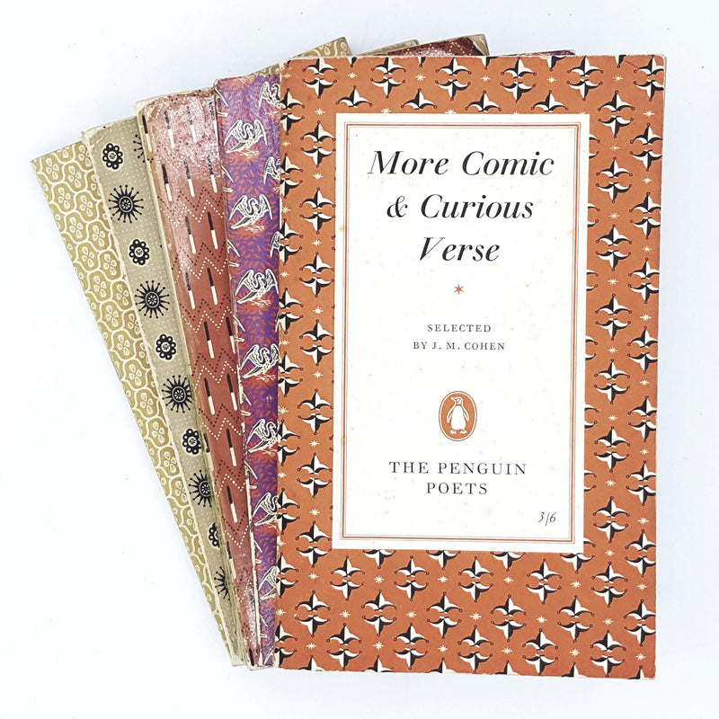 Collection Penguin Poetry patterned set 1955 - 1966
