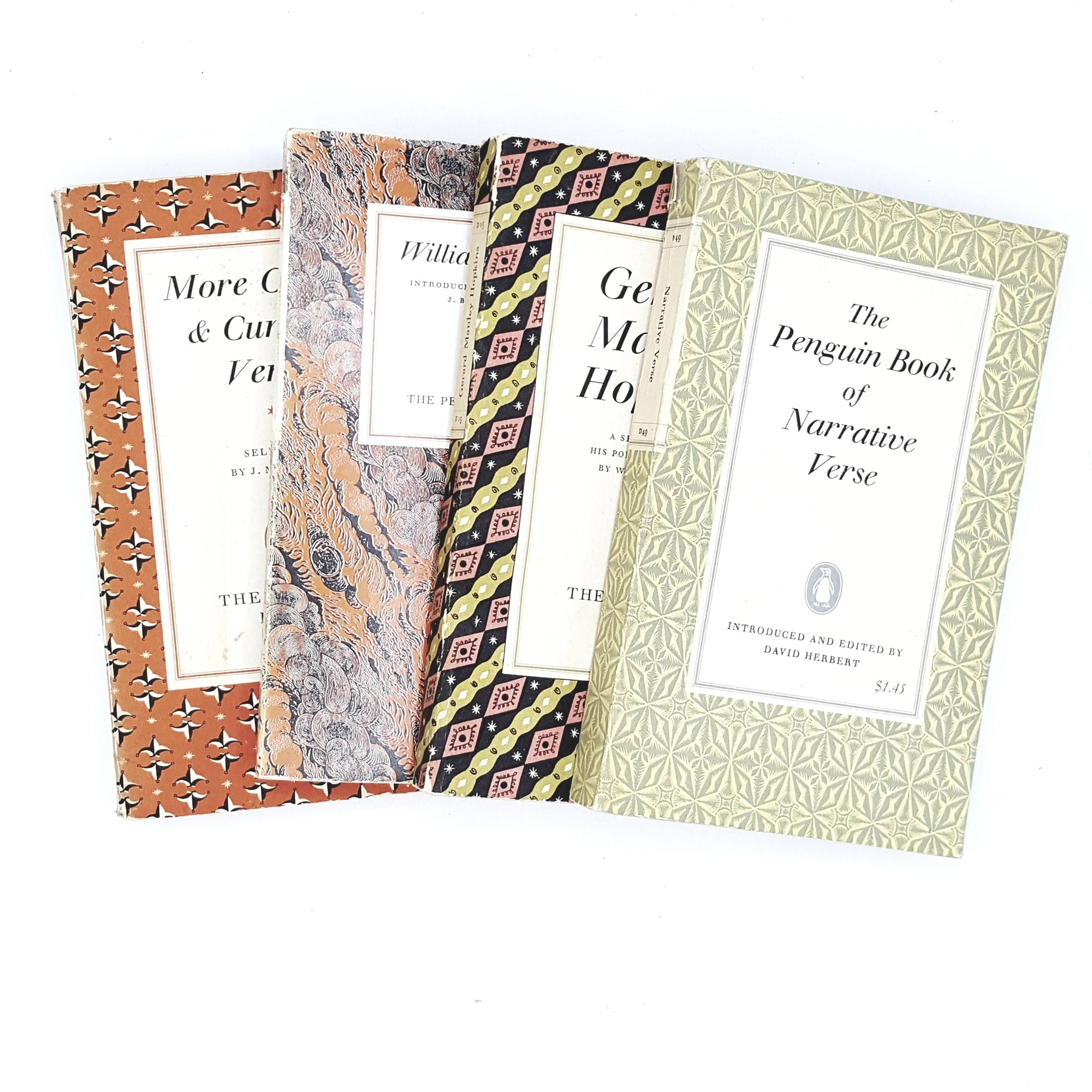 Collection Penguin Poetry geometric set 1956 - 1966