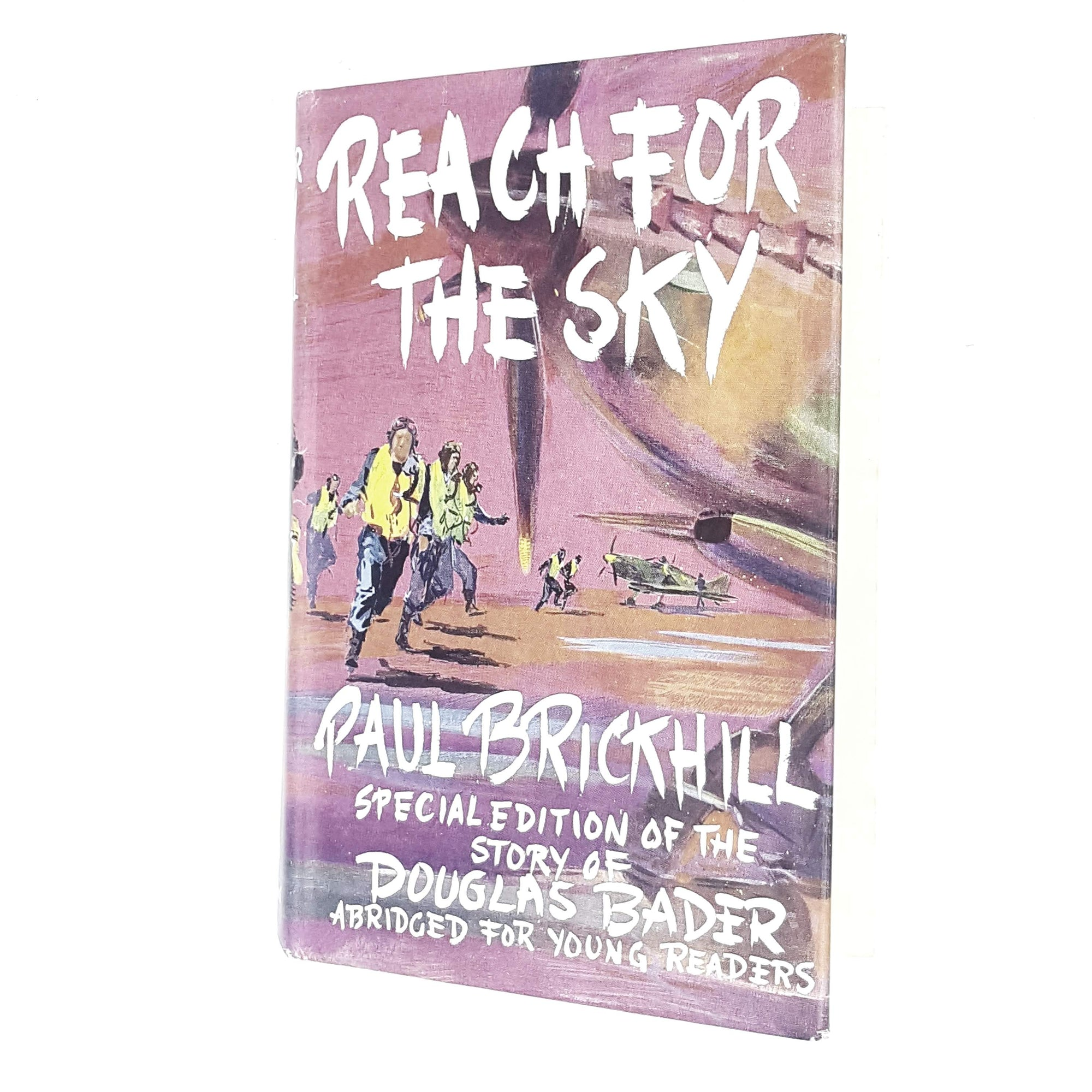 reach-for-sky-pink-paul-brickhill-vintage