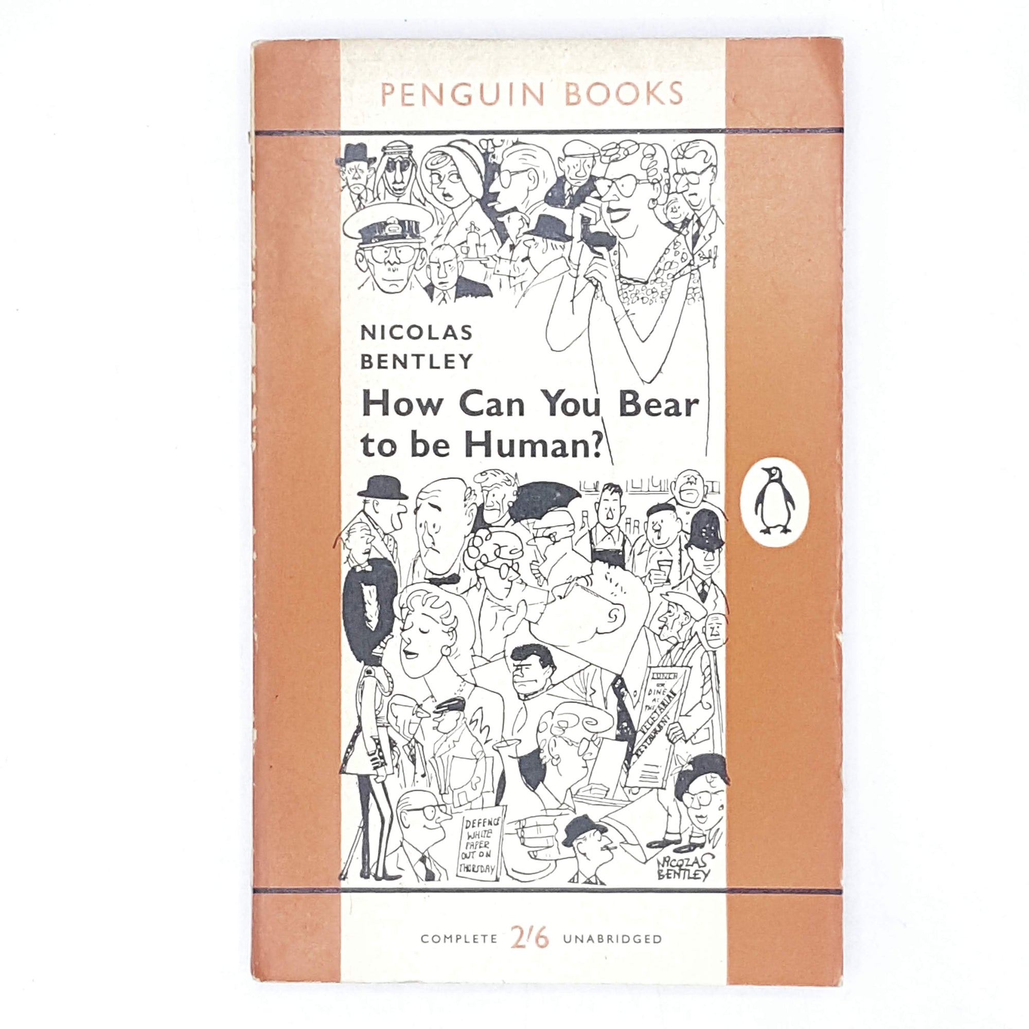 Vintage Penguin How You Bear to be Human by Nicolas Bentley 1959