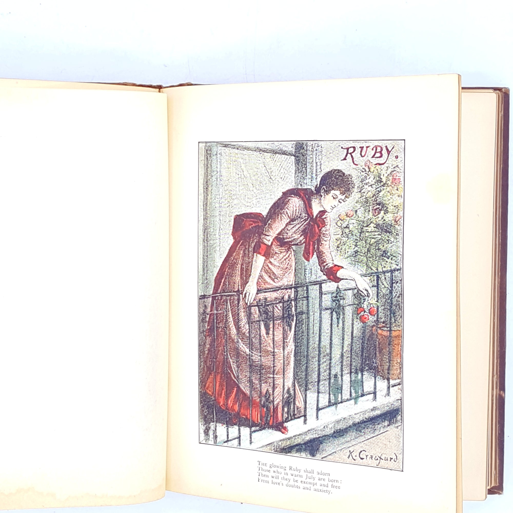vintage-m-halford-old-1900-thrift-rare-decorative-illustrated-country-house-library-patterned-warne-k-crauford-books-peach-poetry-verses-fortunes-mirror-