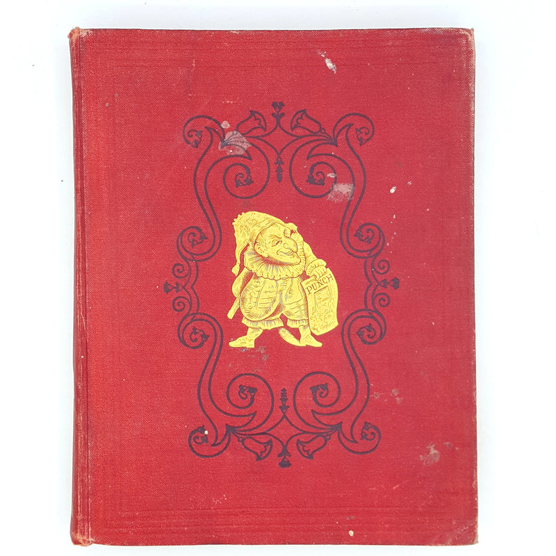 rare-red-decorative-books-vintage-patterned-CLXV-country-house-library-illustrated-1923-collection-thrift-old-punch-