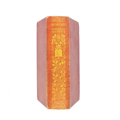 old-charlotte-bronte-shirley-book-thrift-red-books-vintage-classics-1903-decorative-henry-frowde-country-house-library-