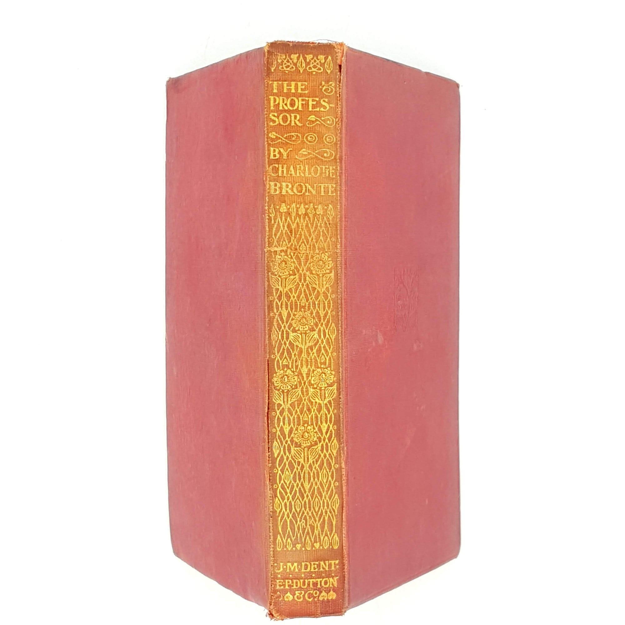 the-professor-dent-red-thrift-books-classics-old-charlotte-bronte-country-house-library-book-decorative-vintage-