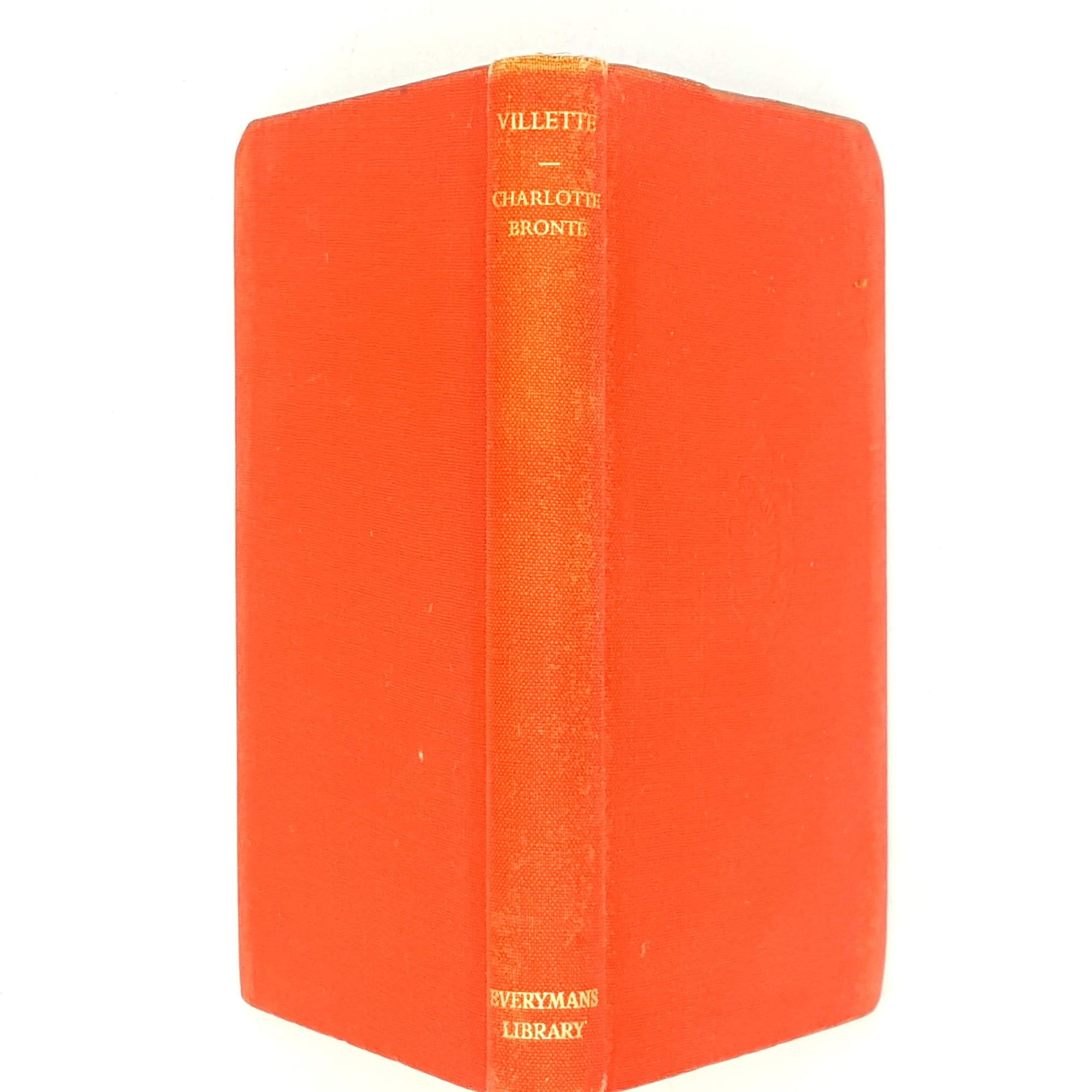 orange-villette-country-house-library-vintage-books-decorative-classics-old-1952-charlotte-bronte-book-everymans-library-