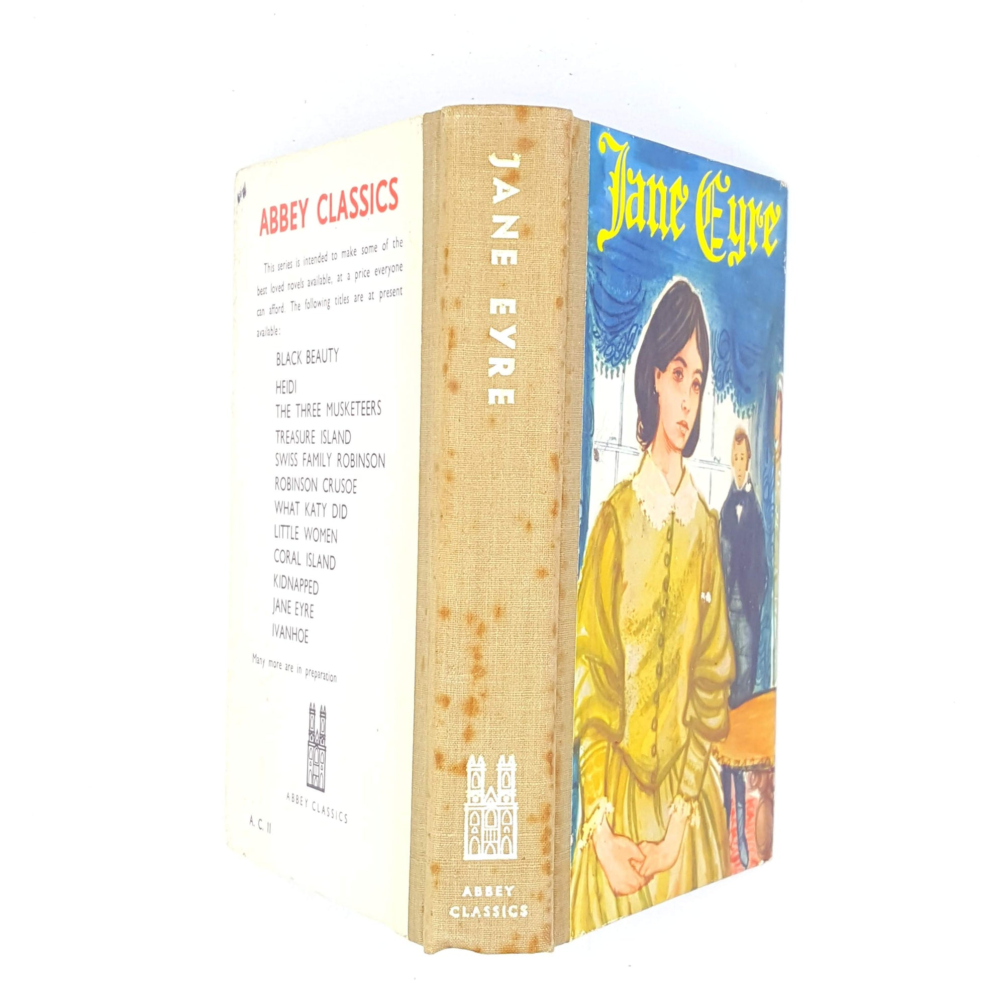 jane-eyre-book-thrift-old-charlotte-bronte-decorative-blue-books-abbey-classics-country-house-library-vintage-yellow-classics-