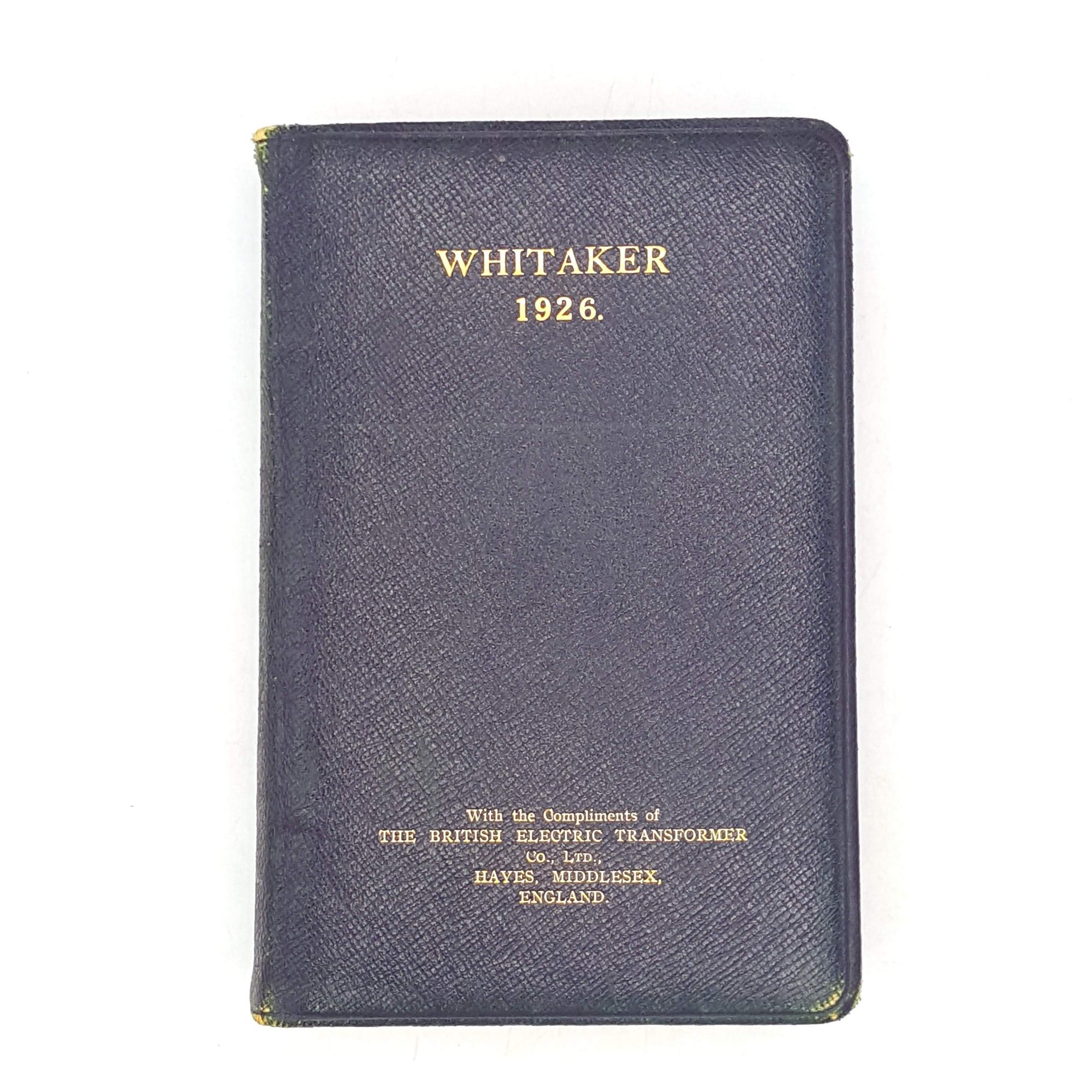 thrift-rare-edition-country-house-library-1926-almanack-whitaker-black-books-old-gold-vintage-