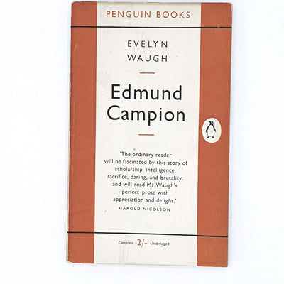 evelyn-waugh-orange-edmund-campion-vintage-book-country-house-library