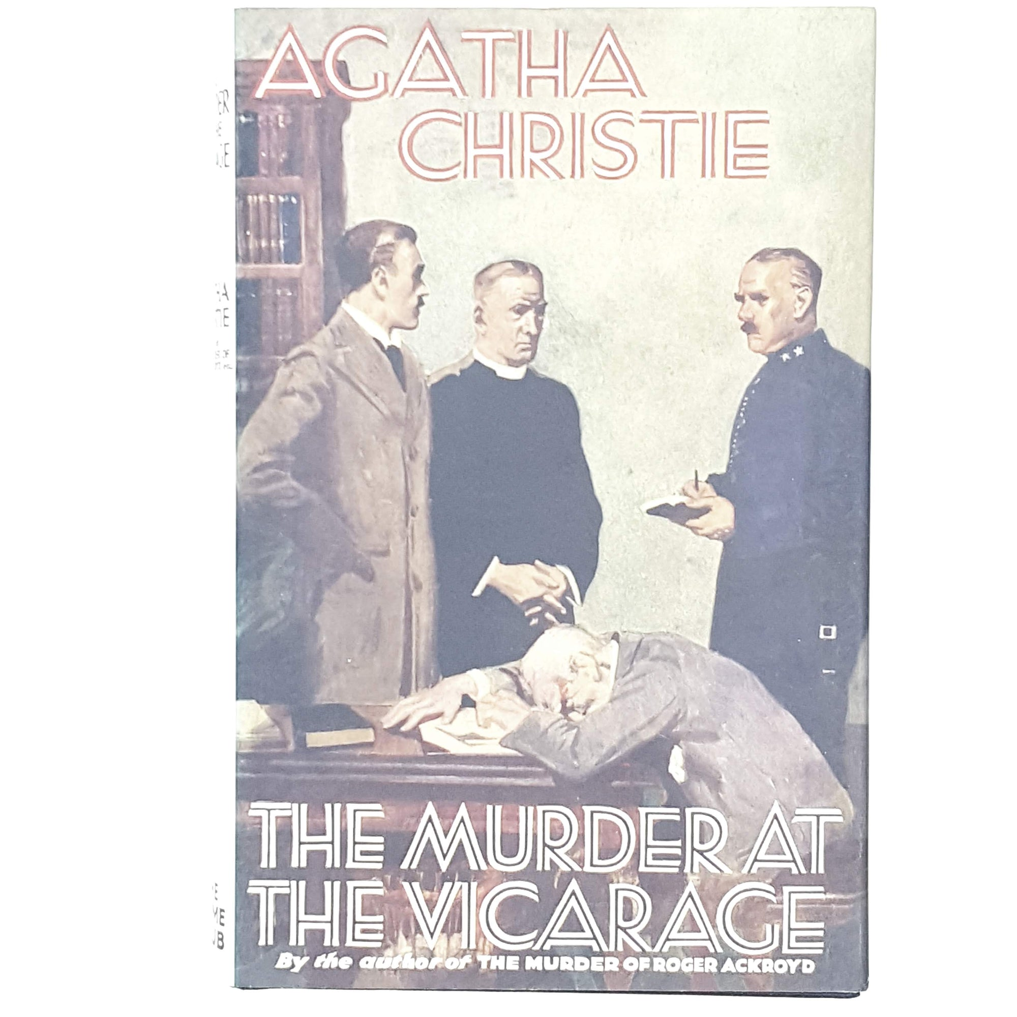 brown-earth-tones-agatha-christie-crime-vintage-book-country-house-library