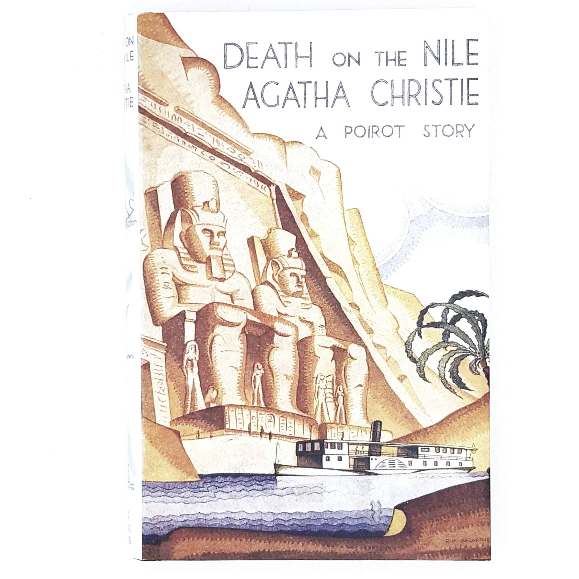 death-nile-agatha-christie-crime-vintage-book-country-house-library